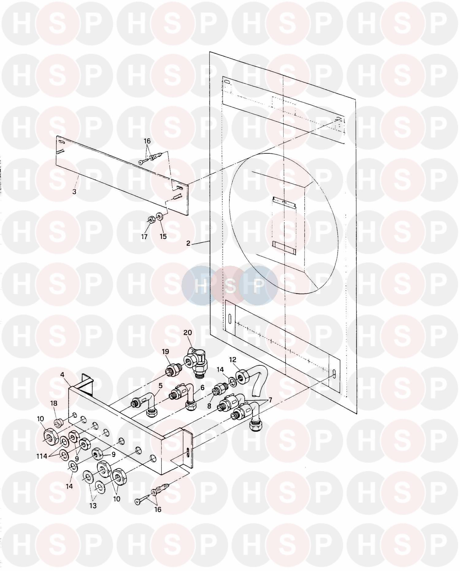 ferroli combi 77cf boiler assembly 1 diagram heating spare