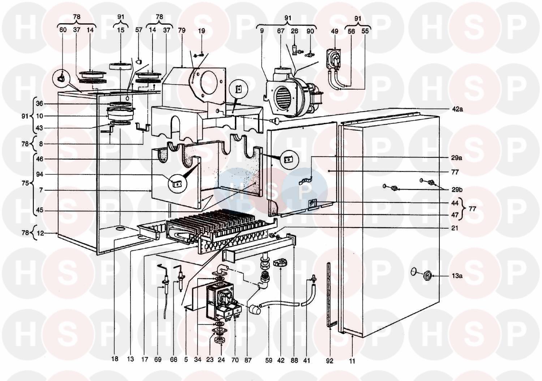 ferroli modena 80e mf03  burner  diagram