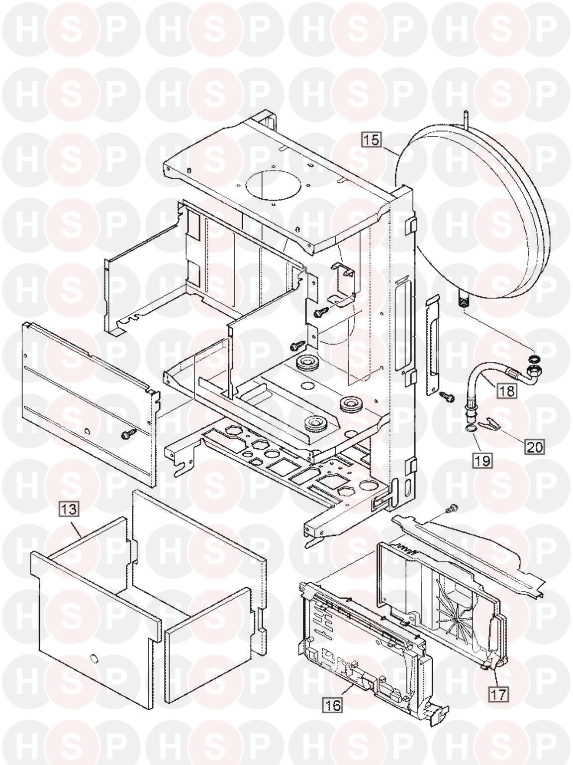 Glowworm GLOWWORM 24CI (EXPANSION VESSEL) Diagram | Heating Spare Parts