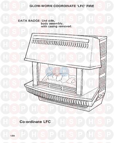 Glowworm COORDINATE LFC FIRE ONLY 1986 AVA (Appliance overview ...
