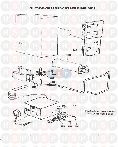 Glowworm SPACE SAVER 50 BF MKI 1977 AVA (Controls) Diagram | Heating ...