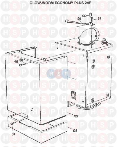 Glowworm ECONOMY 24 FF PLUS 1992 AVA (CASING) Diagram | Heating ...