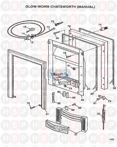 Glowworm CHATSWORTH (MANUAL) (FIRE ASSEMBLY 1) Diagram | Heating ...