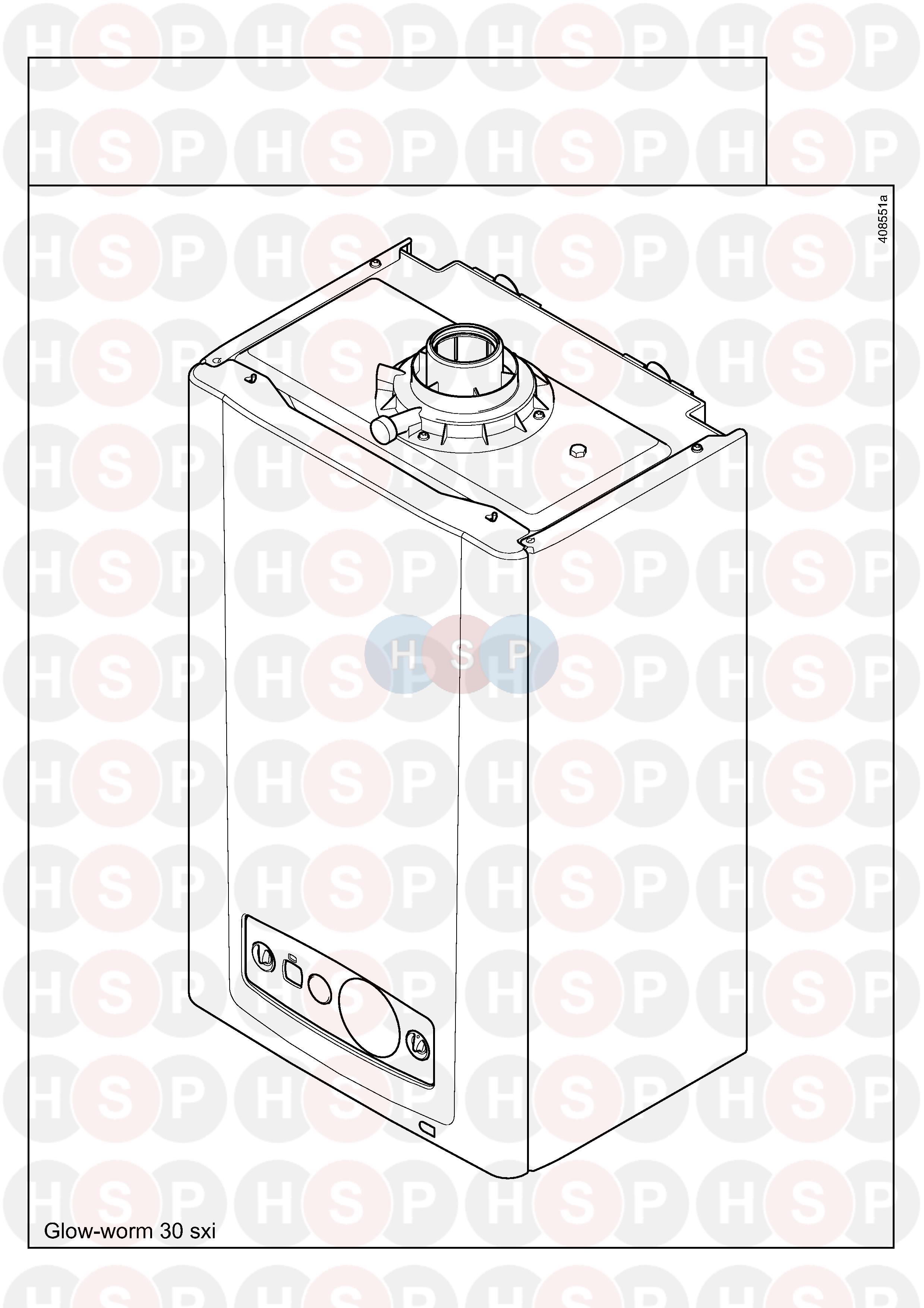 Glowworm GLOWWORM 30SXI (Appliance overview) Diagram