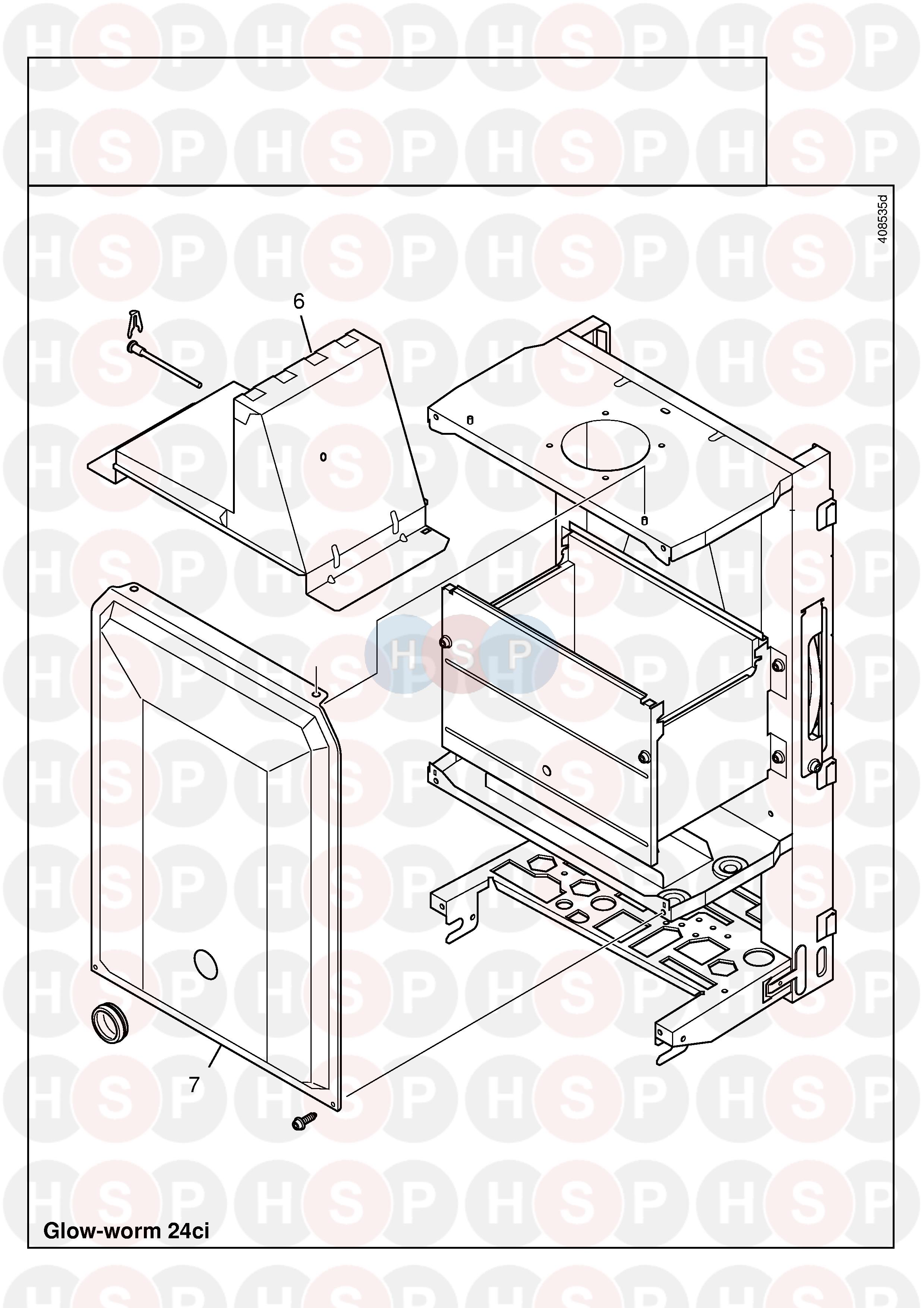 Glowworm GLOWWORM 24CI (CASING 2) Diagram | Heating Spare Parts