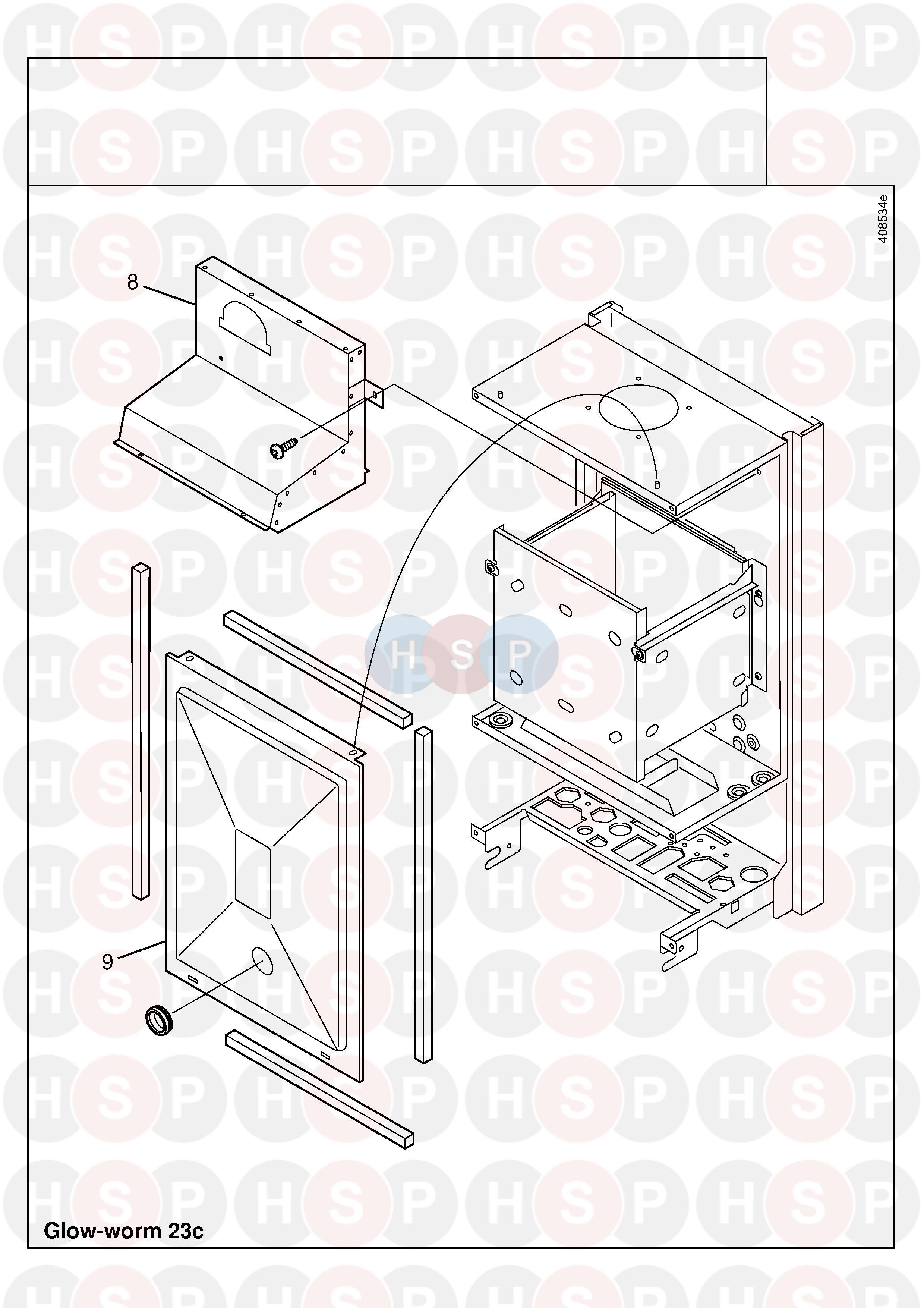 Glowworm GLOWWORM 24CI (CASING 3) Diagram | Heating Spare Parts