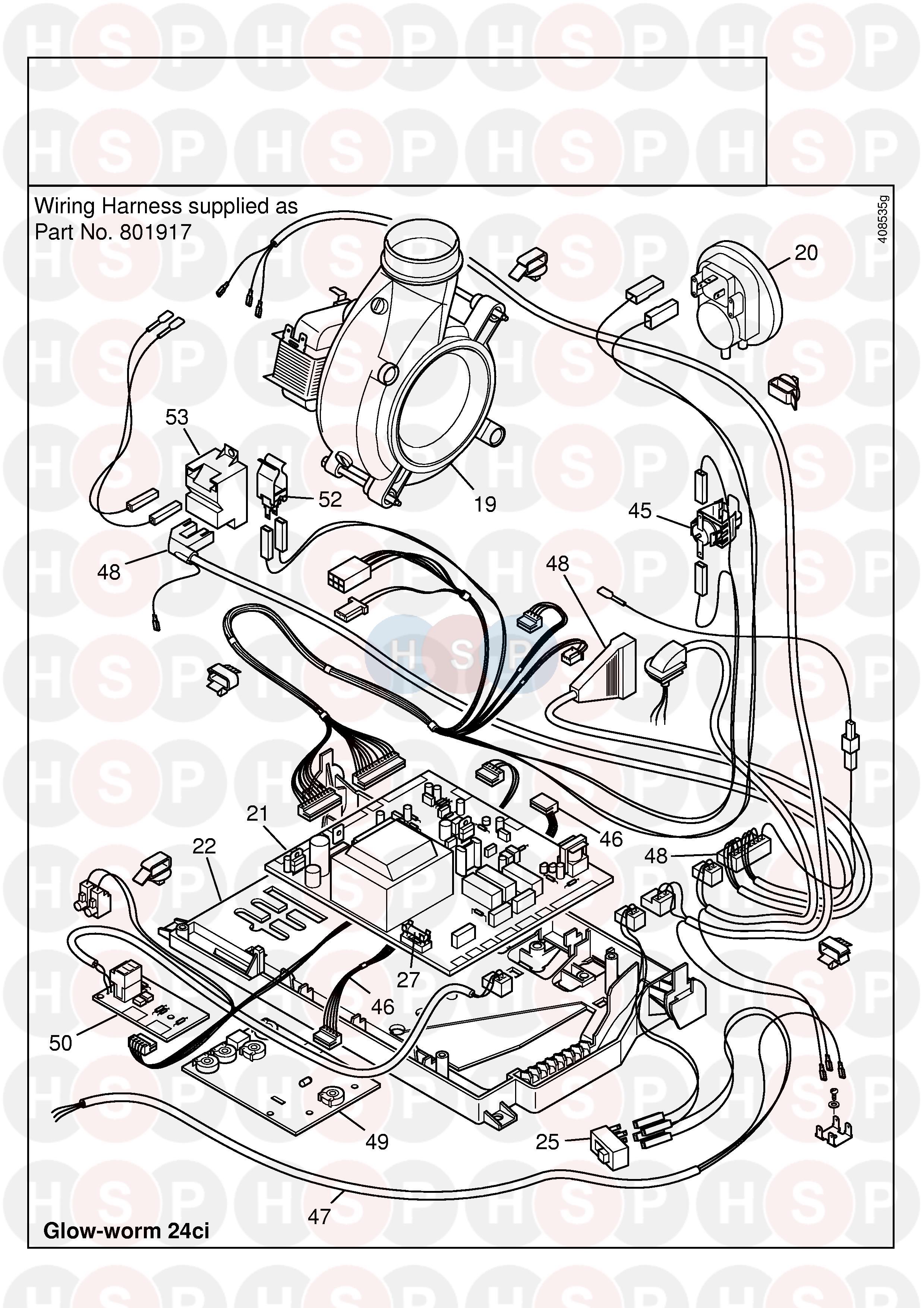 Glowworm GLOWWORM 24CI (PCB) Diagram | Heating Spare Parts