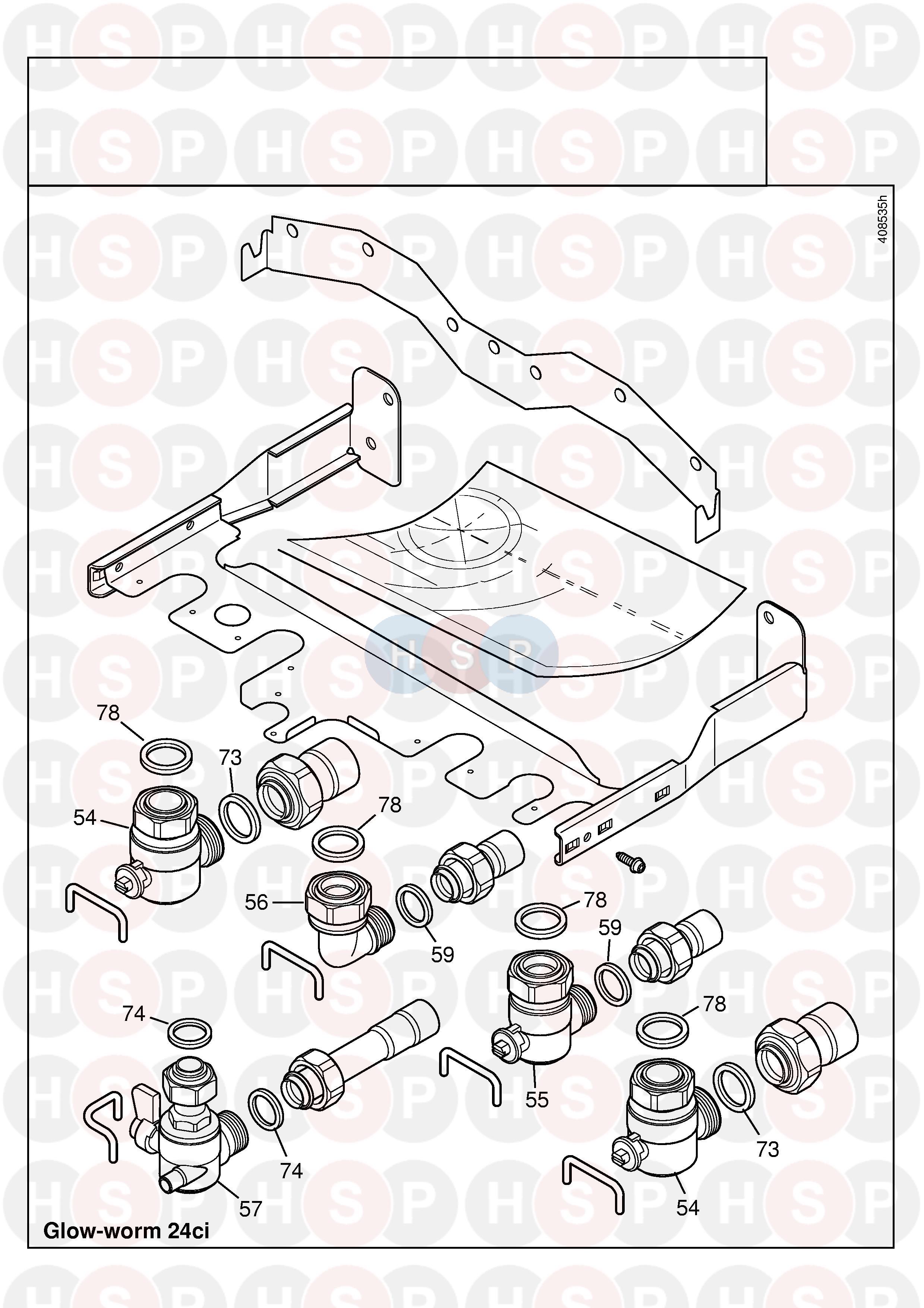 Glowworm GLOWWORM 24CI (PIPE WORK) Diagram | Heating Spare Parts