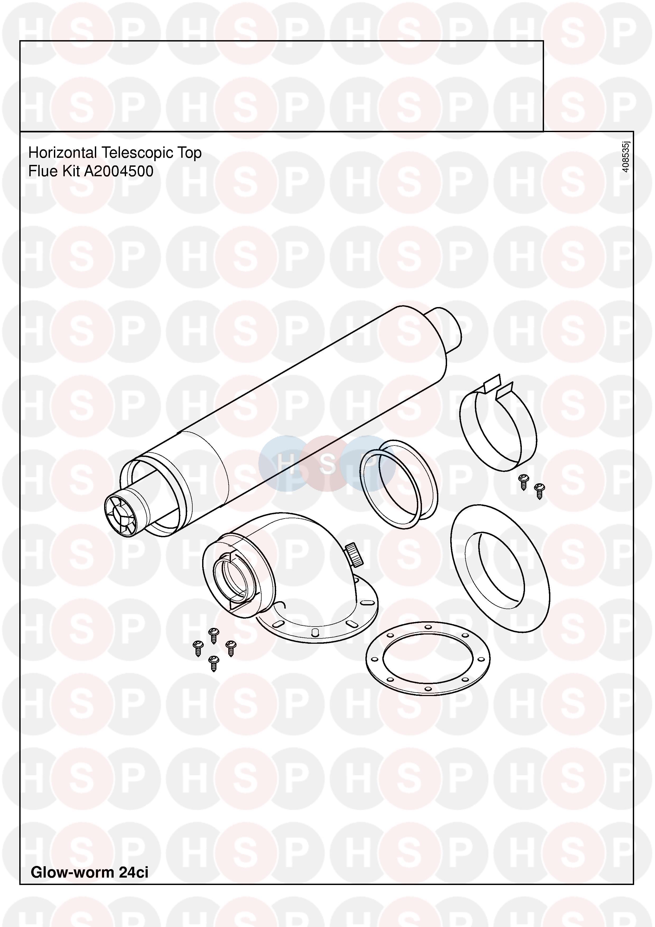 Glowworm GLOWWORM 24CI (FLUE) Diagram | Heating Spare Parts