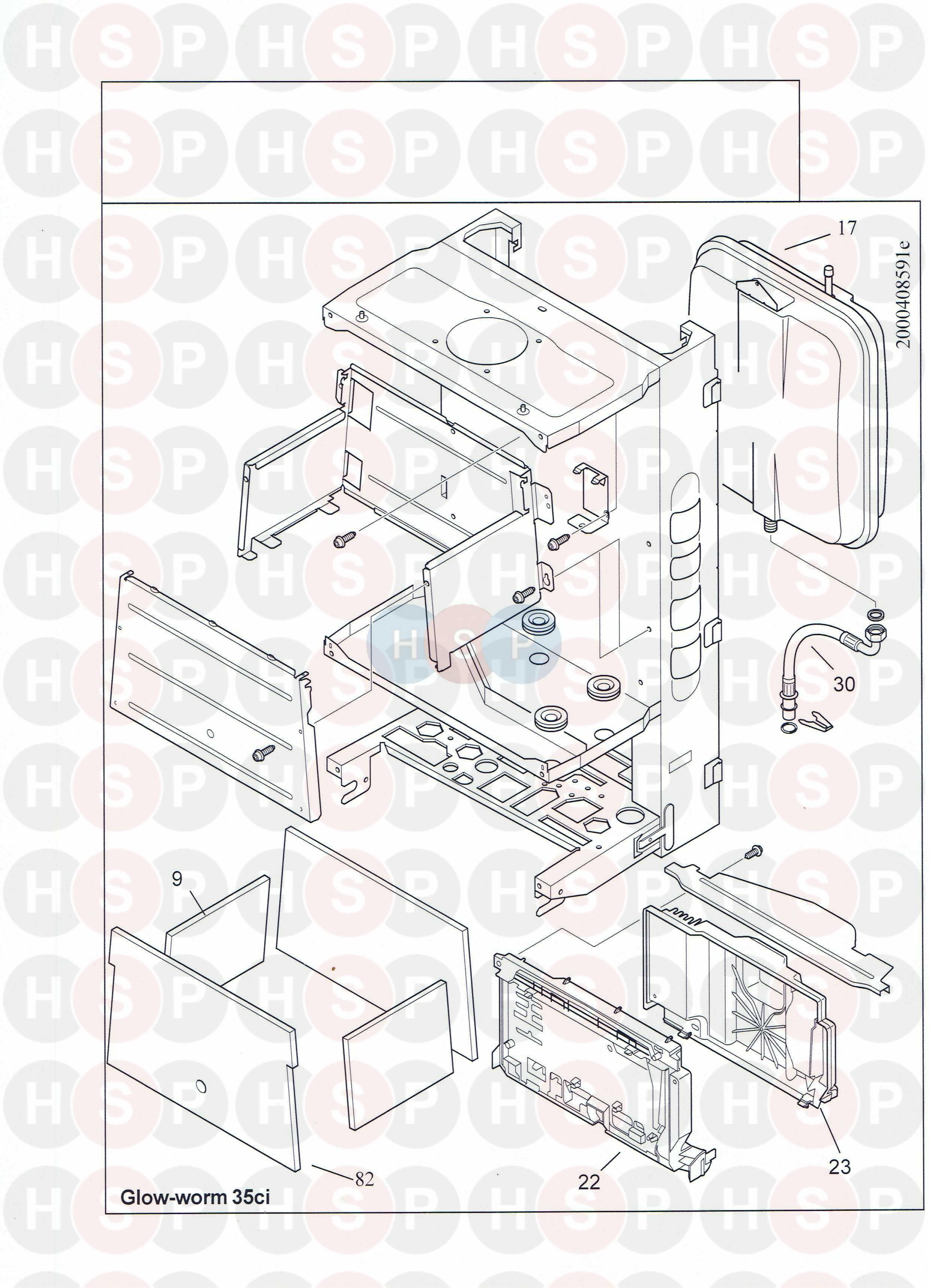 Glowworm GLOWWORM 35CI (Expansion vessel) Diagram | Heating Spare Parts