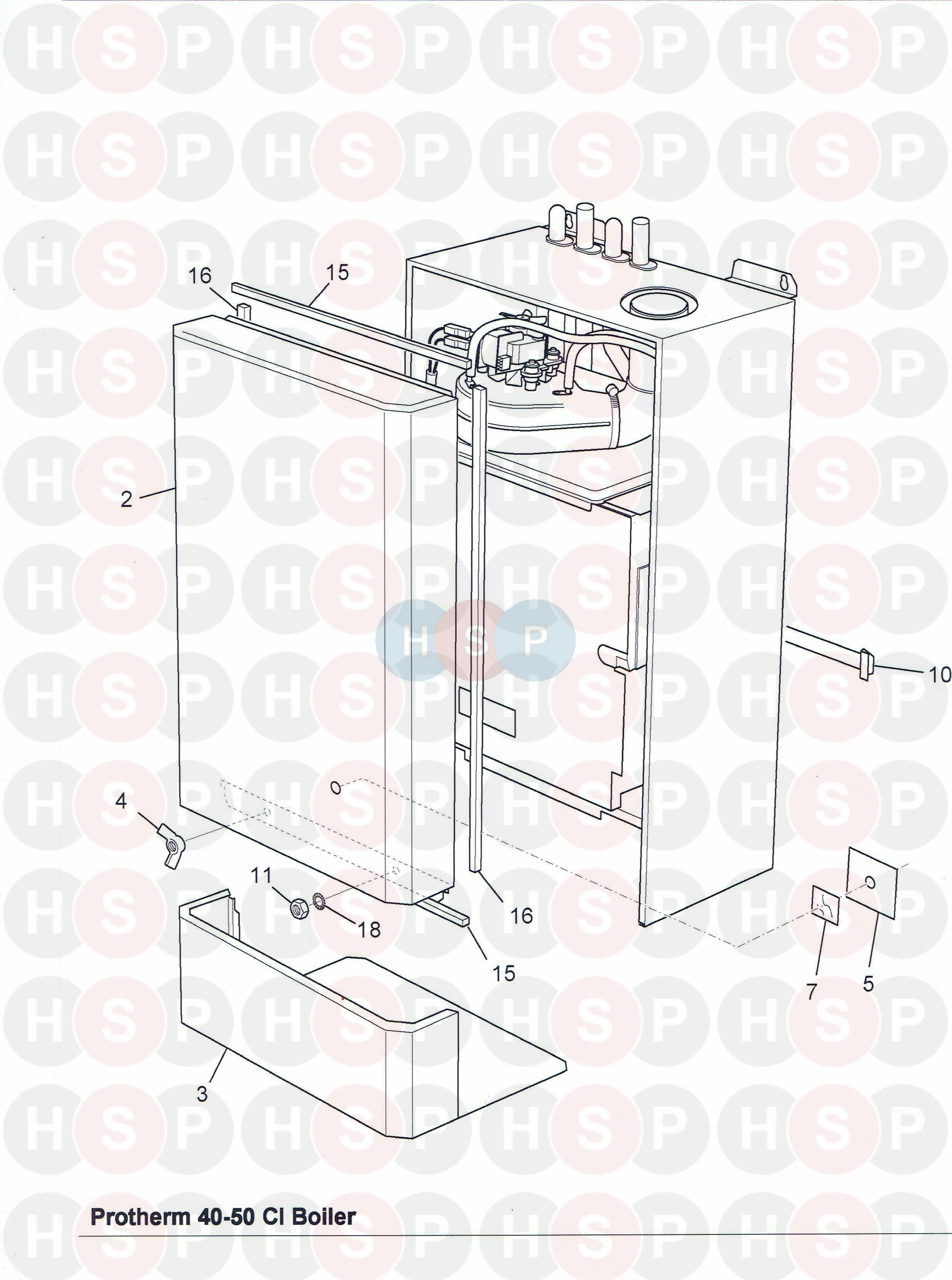 Glowworm PROTHERM 40-50CI Fan Assembly 2000801380 a 801380