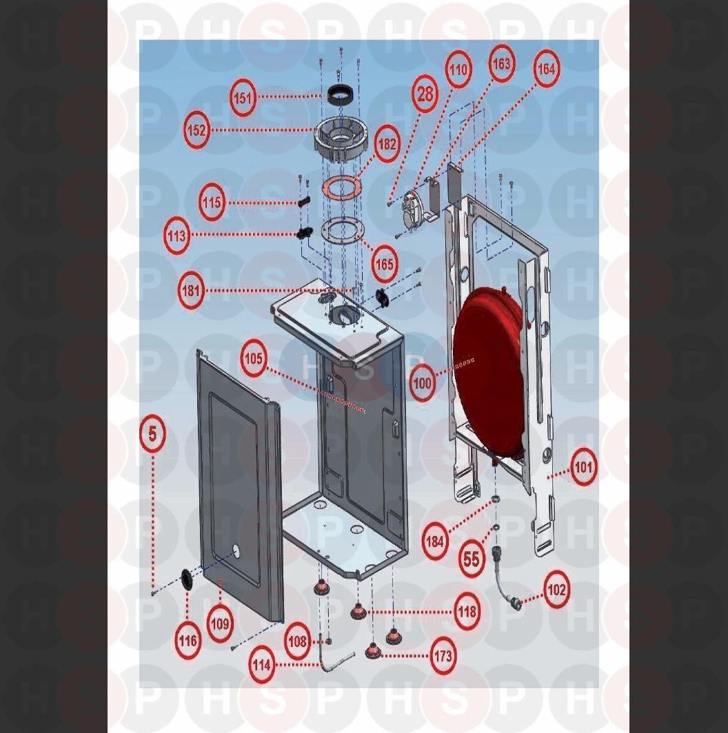 Glowworm BETACOM 24C (Assembly 7) Diagram | Heating Spare Parts