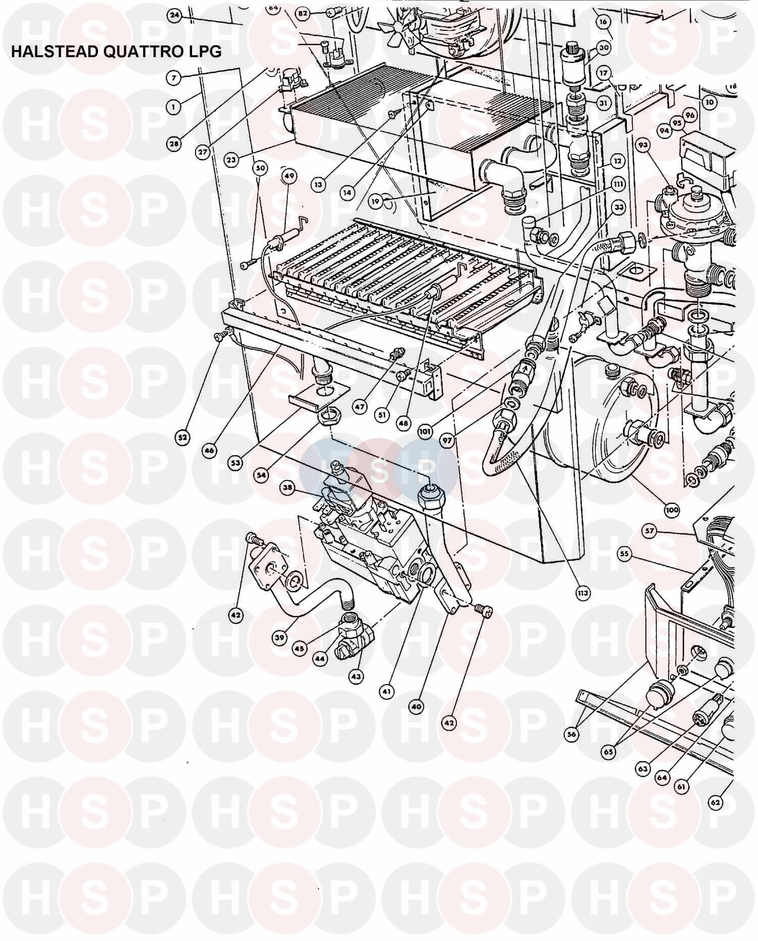 BOILER ASSEMBLY 2 diagram for Halstead QUATTRO LPG
