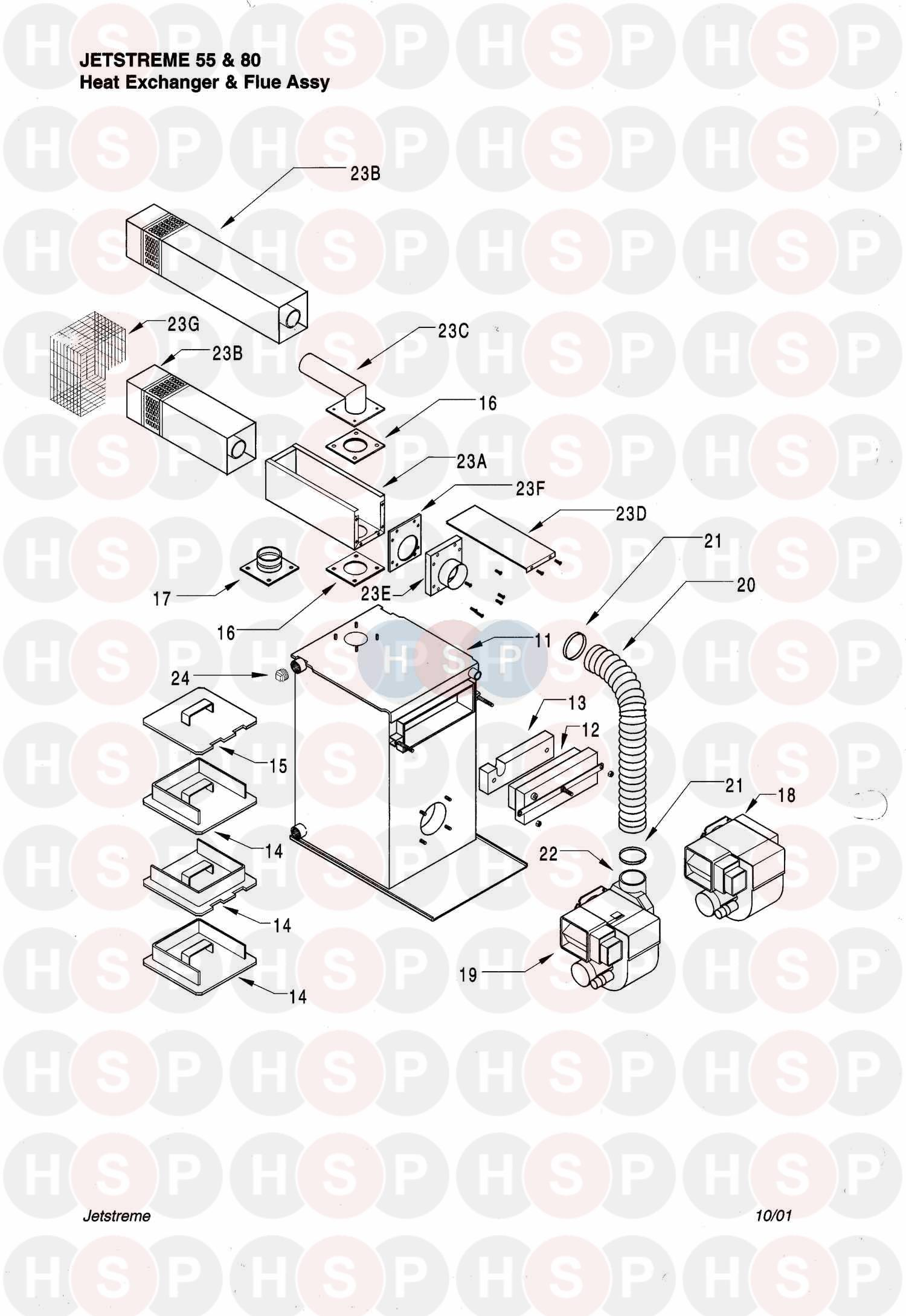 halstead jetstreme 55  heat exchanger  u0026 flue  diagram