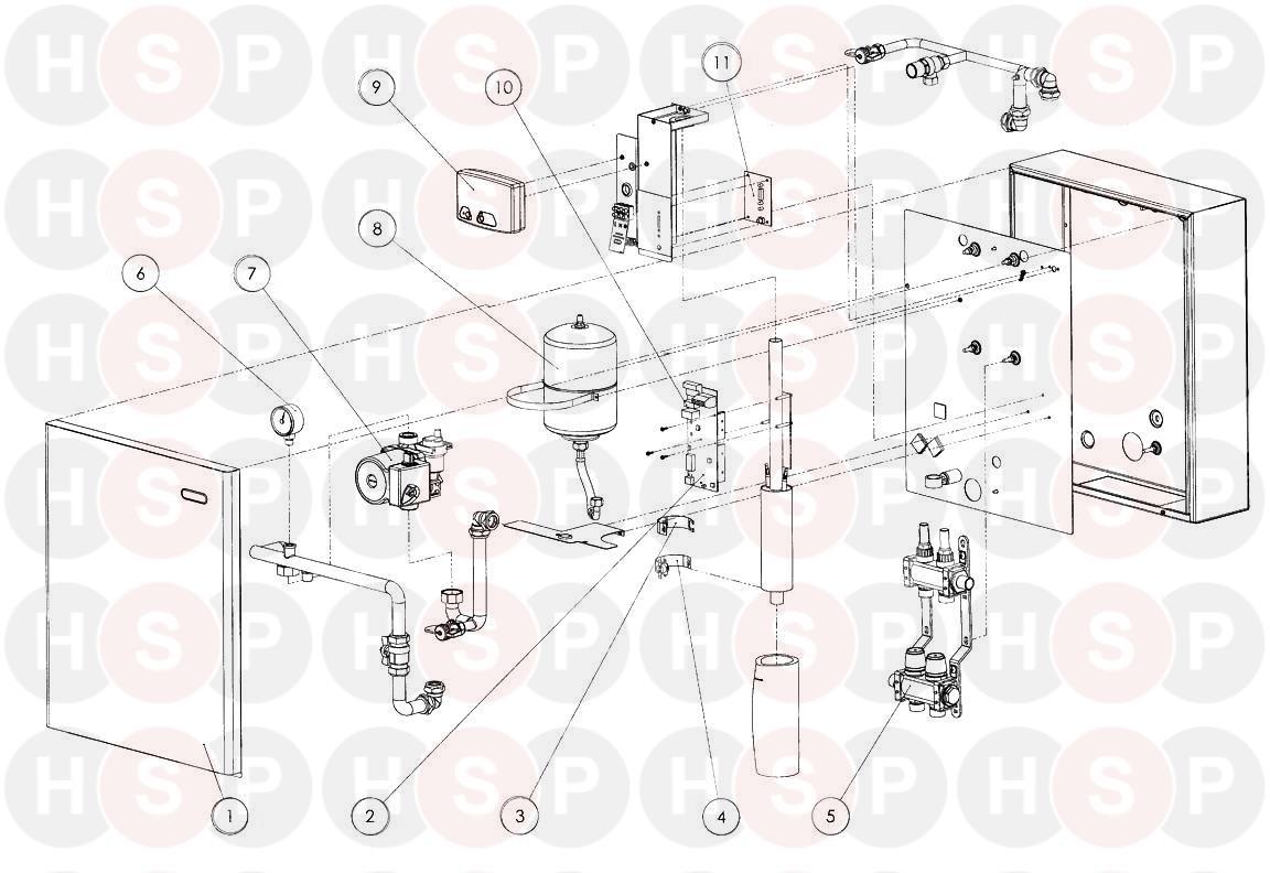 Heatrae Sadia Amptec System Boiler 2.5KW Underfloor