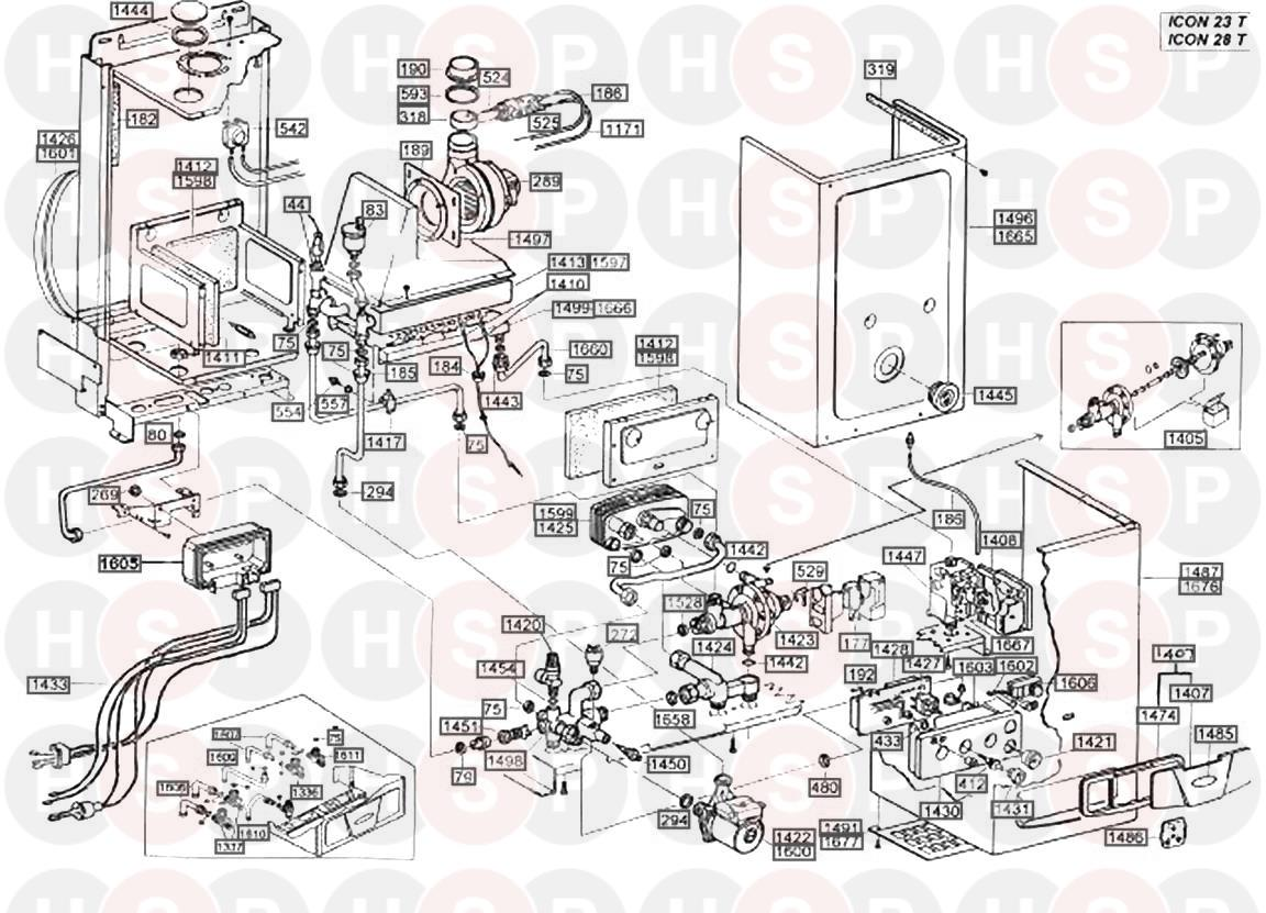 Hermann icon 23 T Appliance Diagram (EXPLODED VIEW