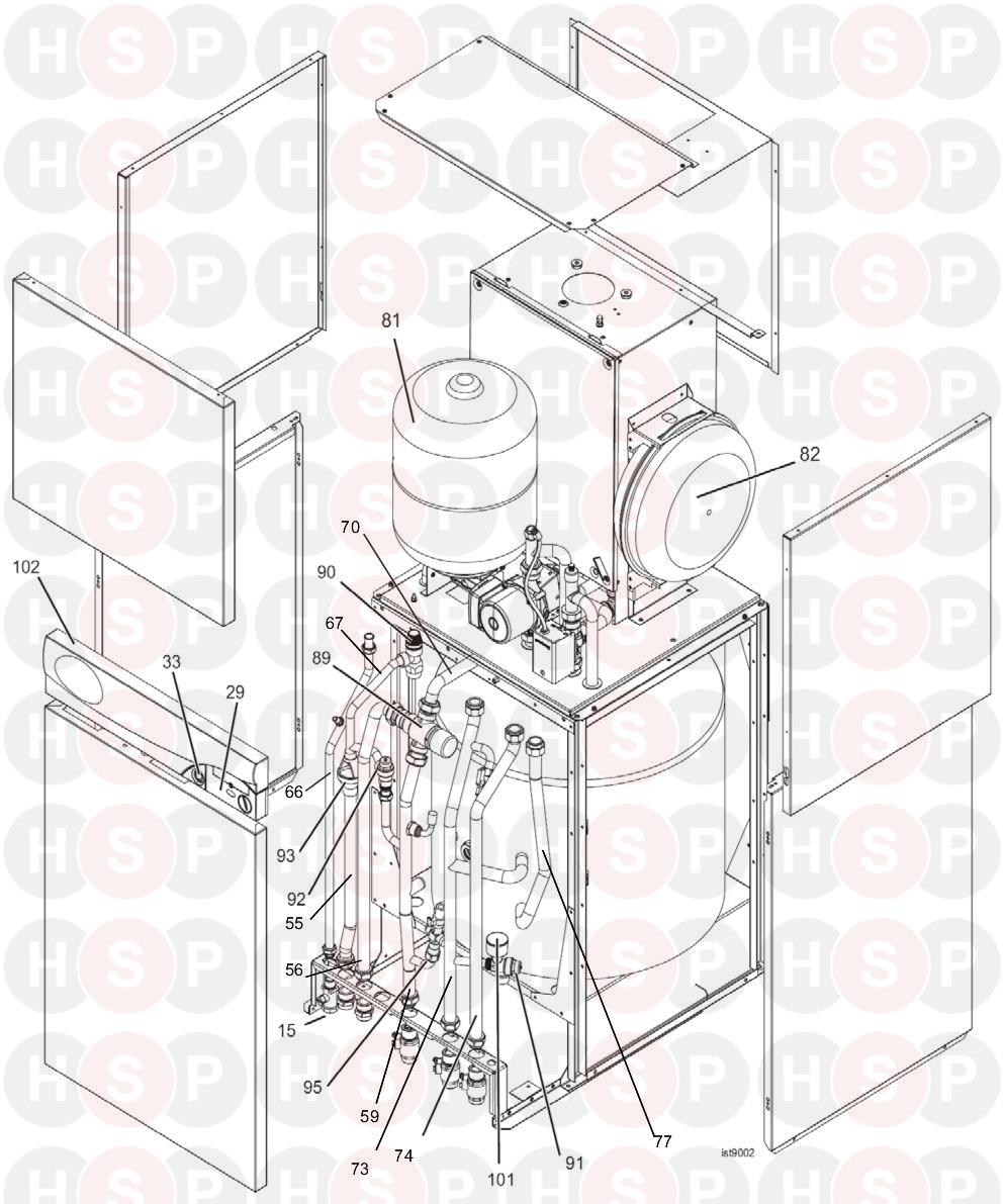 Ideal Istor He260  Boiler Exploded View Wv Onwards
