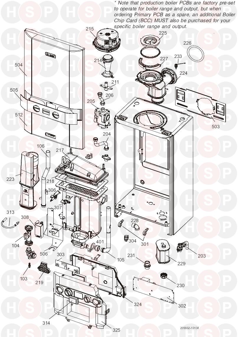 Ideal LOGIC HEAT 24 (BOILER EXPLODED VIEW) Diagram