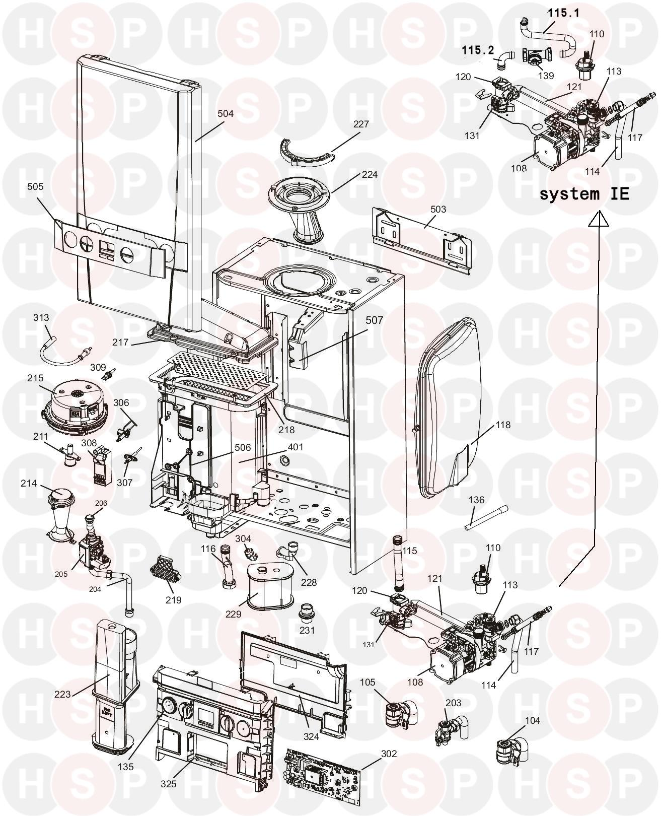 Ideal System S 18  Exploded View Diagram