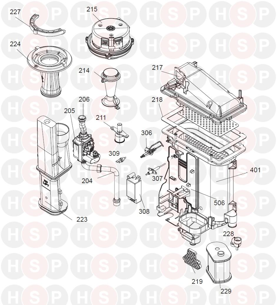 Ideal Logic Combi 30 (Gas Management - ABK Onwards)Diagram | Heating Spare  PartsHeating Spare Parts