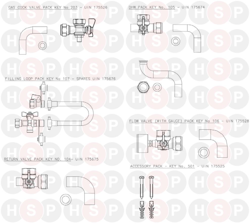 ideal logic combi 30 (hardware pack) diagram | heating spare parts ideal logic combi 30 diagram