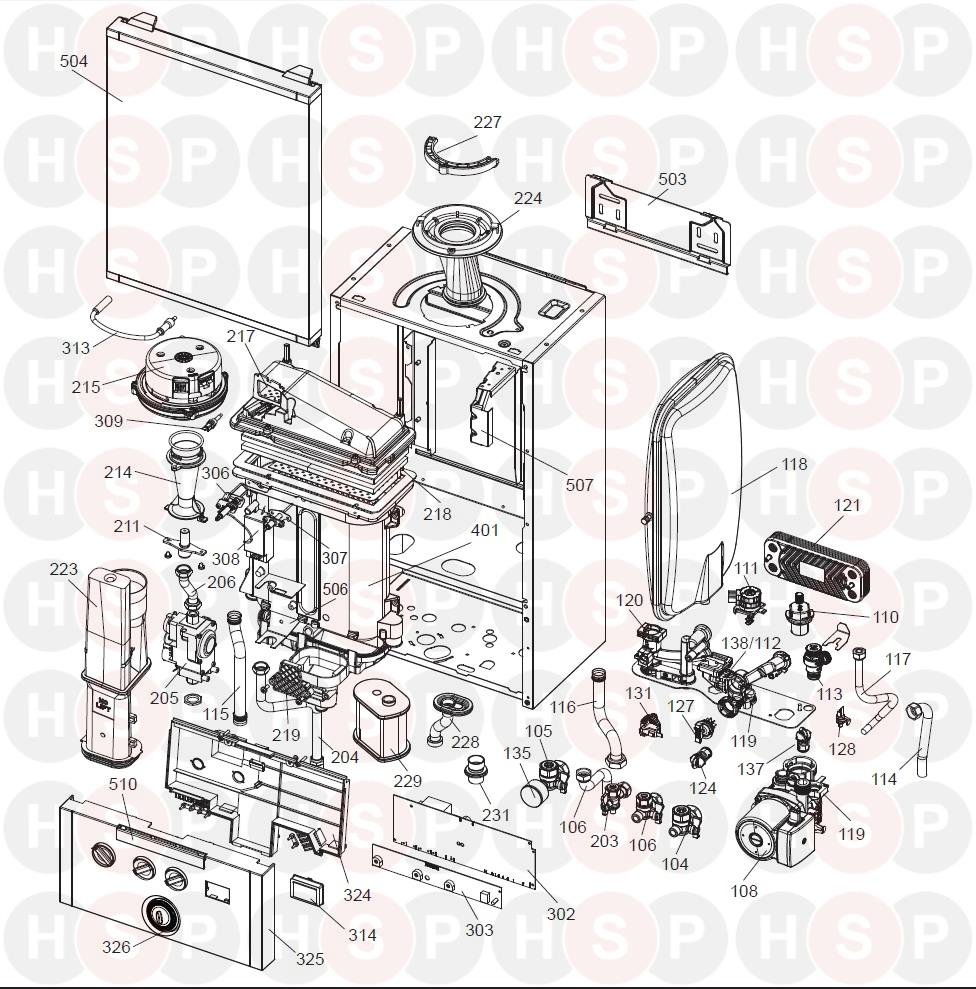 Ideal PROCOMBI EXCLUSIVE 24 (EXPLODED VIEW ABK ONWARDS