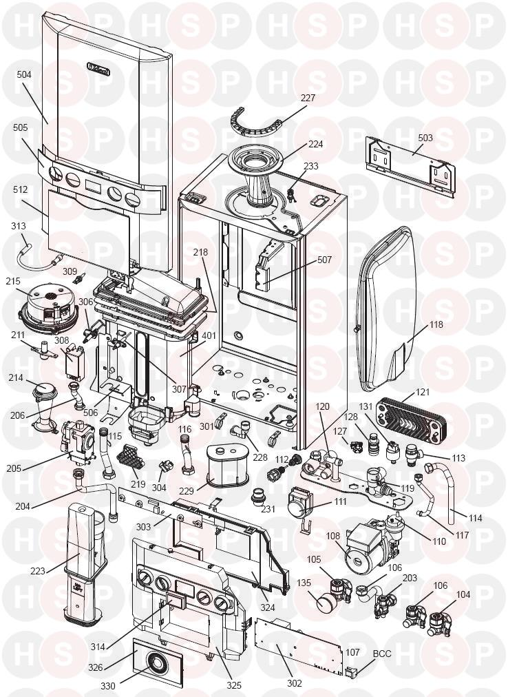 ideal  c30  boiler exploded view  diagram
