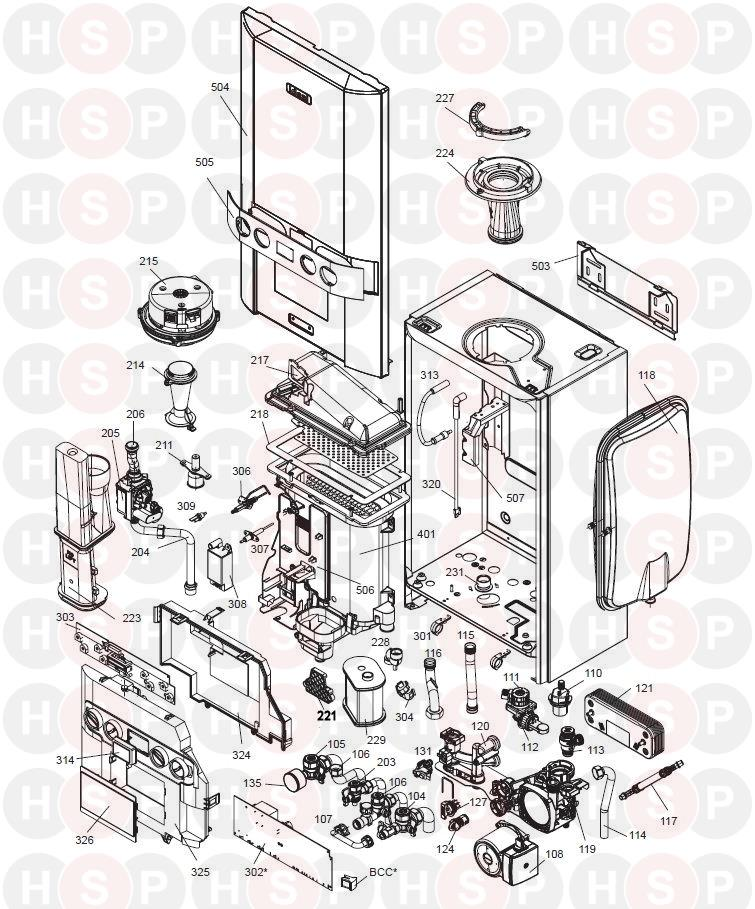 Ideal Combi Es 30  Exploded View Abk Onwards Diagram