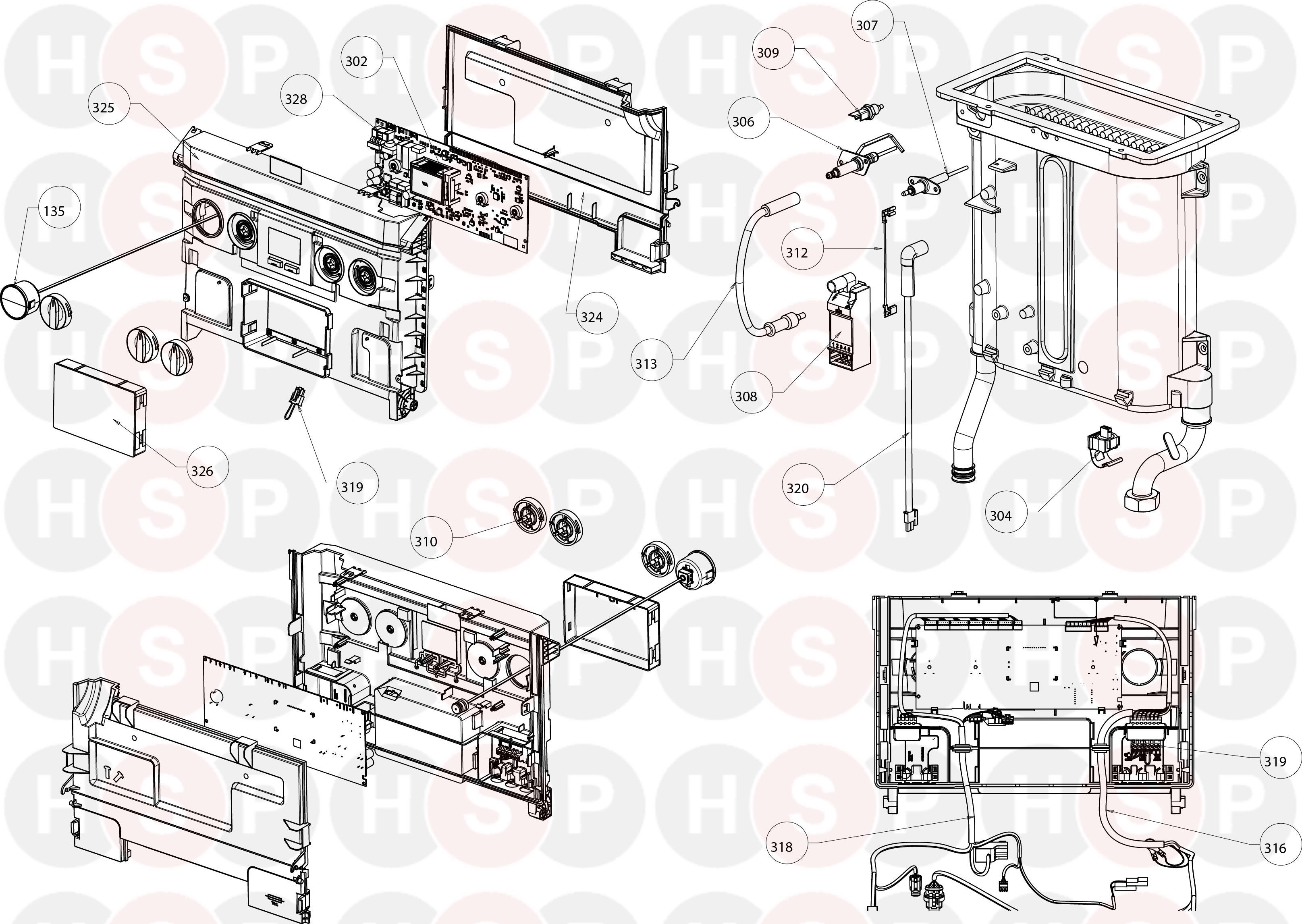 ideal 30 combi esp1 controls diagram heating spare parts. Black Bedroom Furniture Sets. Home Design Ideas