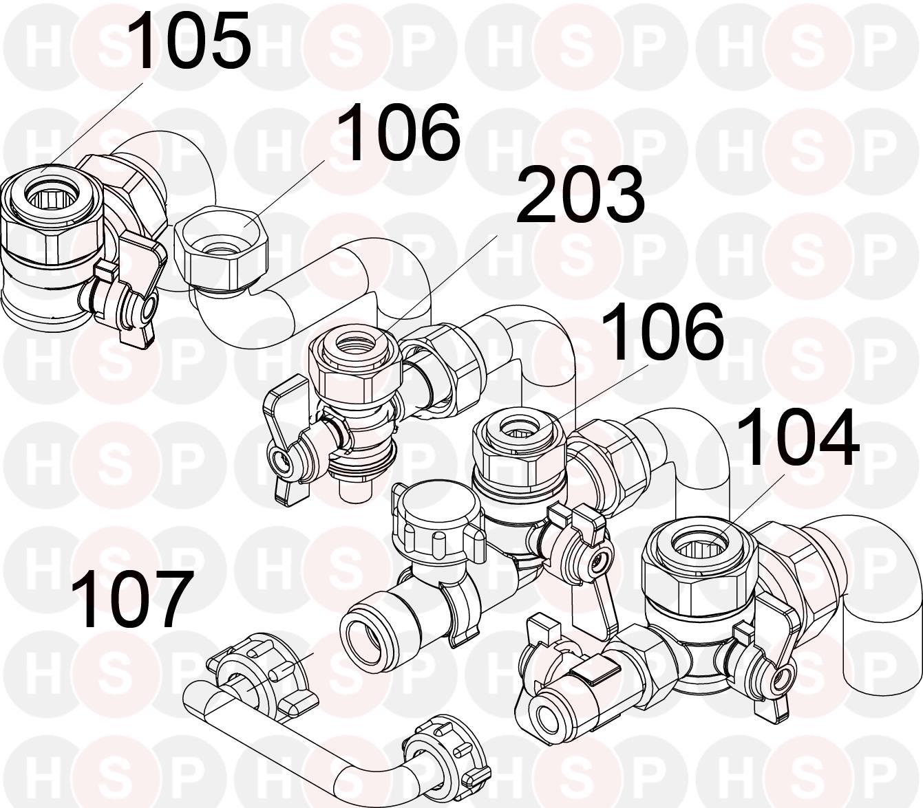 Ideal 35 Combi Esp1  Hardware Pack Diagram