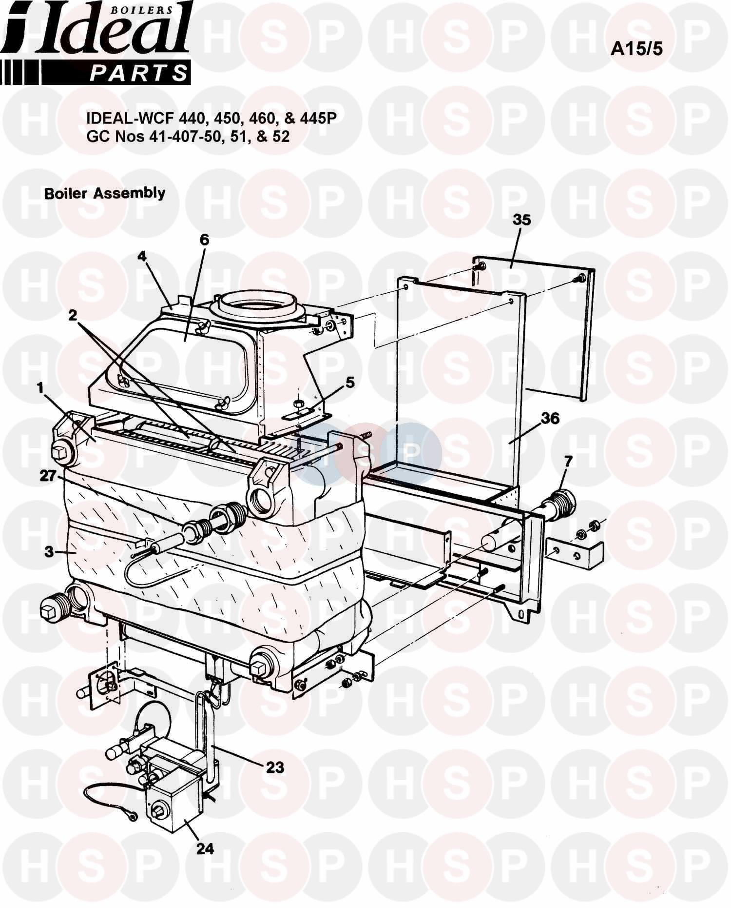 Ideal CONCORD WCF 450 (BOILER ASSEMBLY 1) Diagram