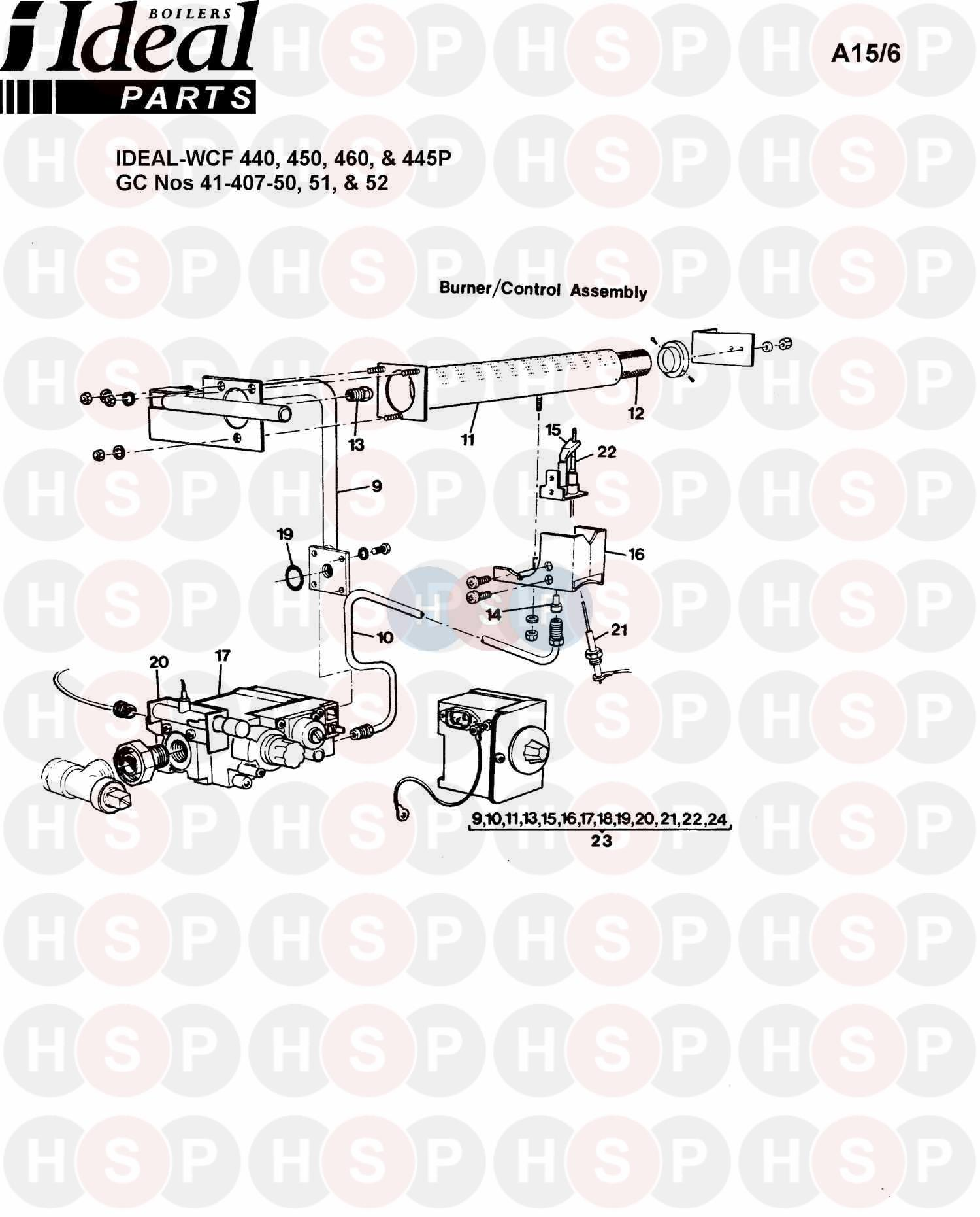 Ideal CONCORD WCF 450 (Burner Control Ass 1) Diagram