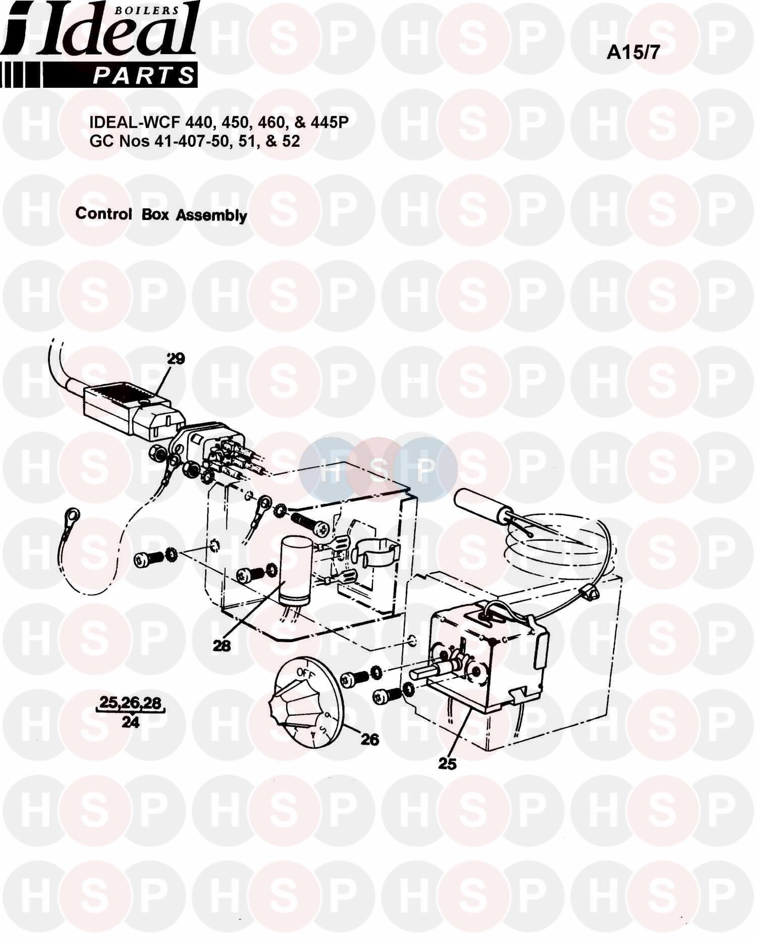 ideal concord wcf 450  burner control ass 2  diagram
