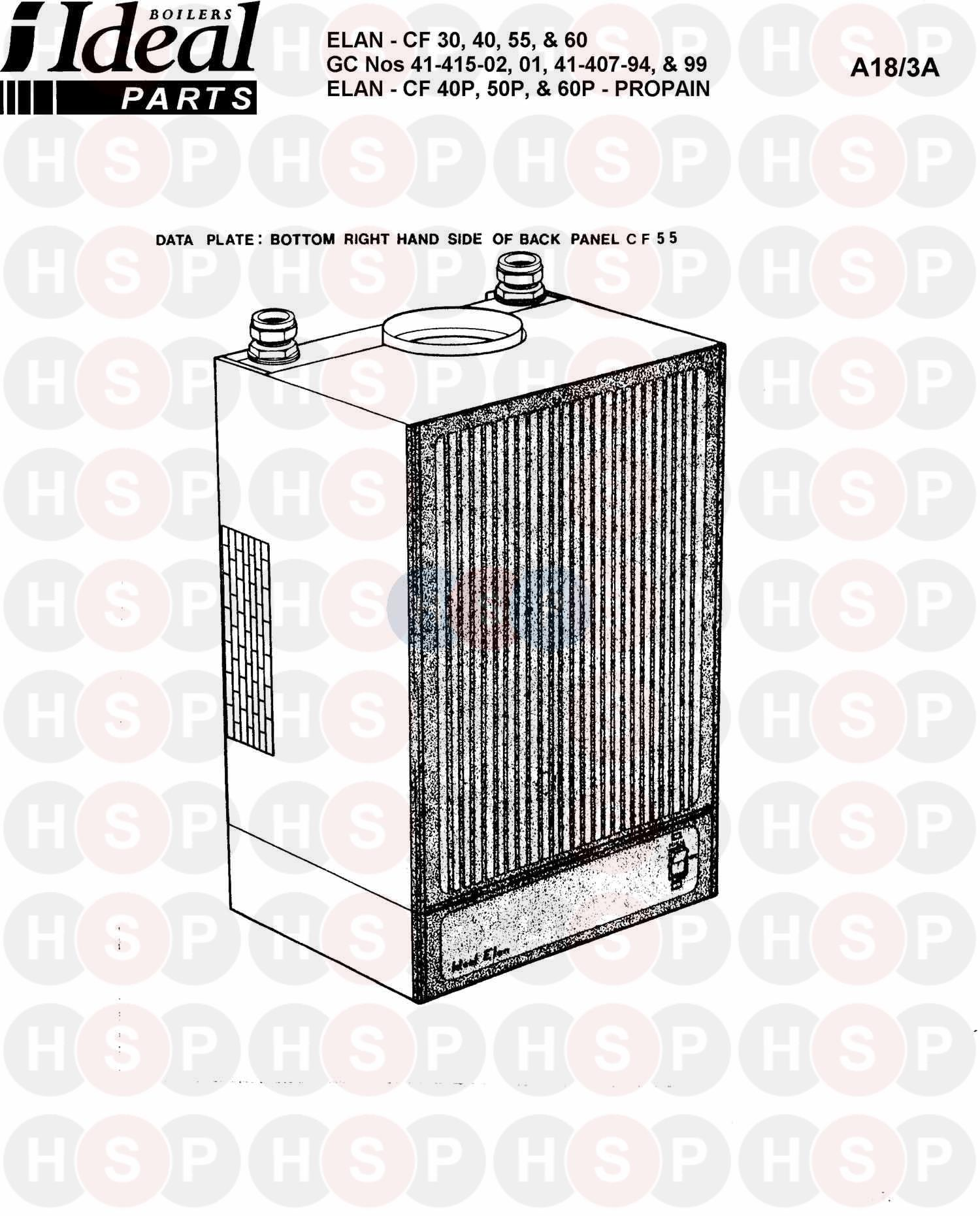 ideal elan cf 30  appliance overview  diagram