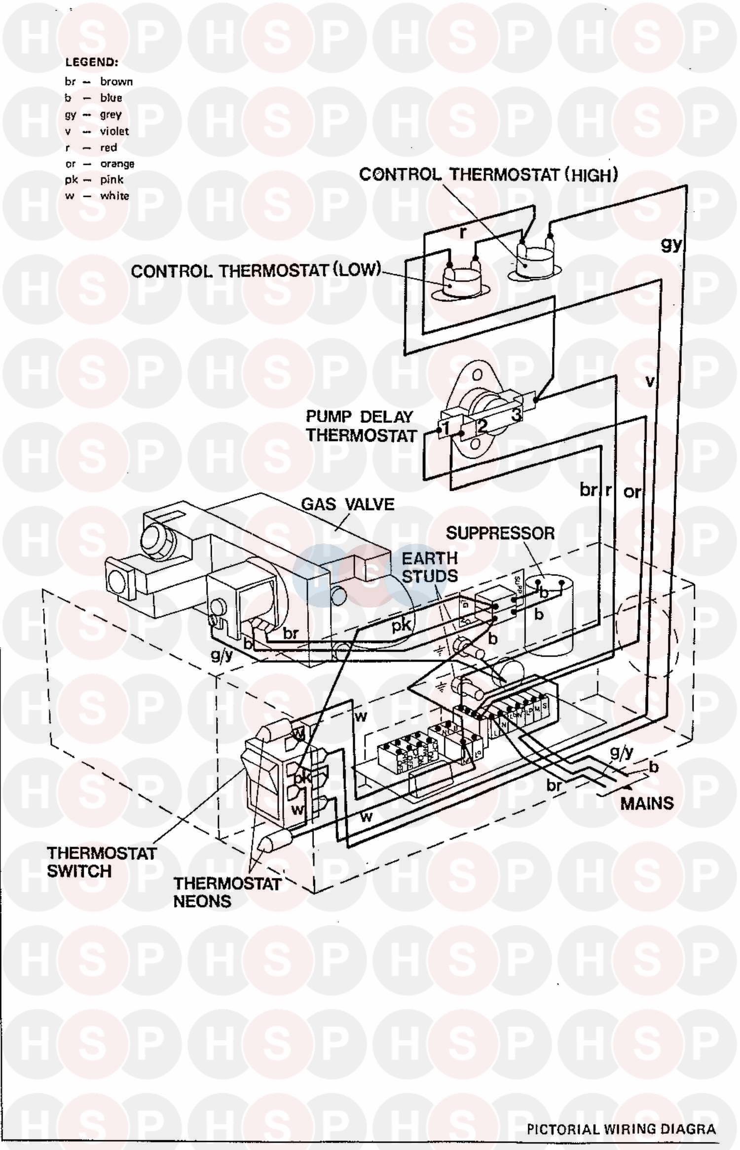 Ideal EXCEL CF 50 Appliance Diagram (Wiring Diagram 1