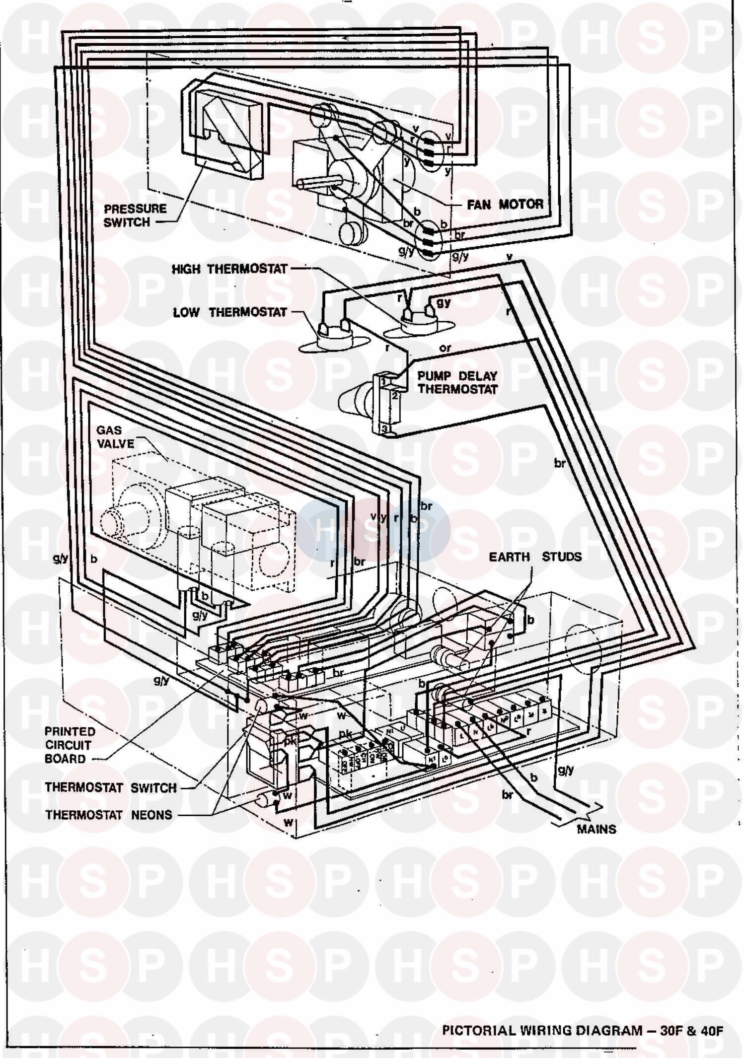 ideal excel 40f  wiring diagram 3  diagram