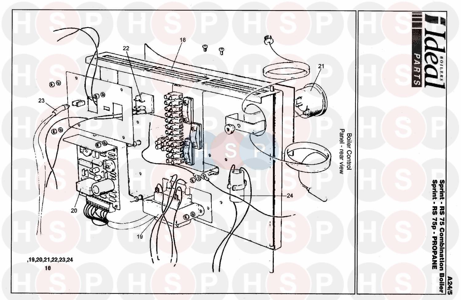 ideal sprint rs 75  control box ass  diagram