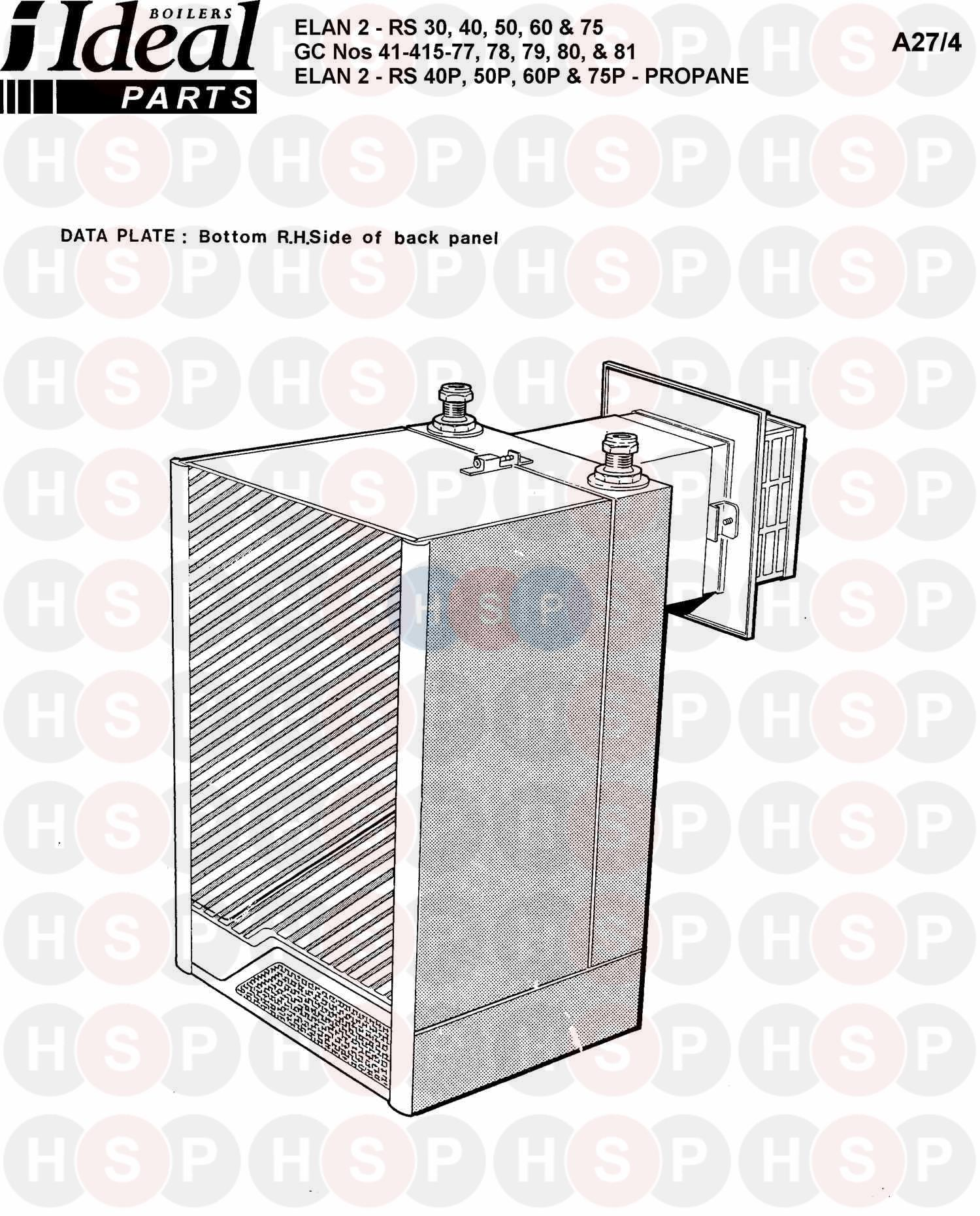 Ideal ELAN 2 RS 75 (APPLIANCE OVERVIEW) Diagram