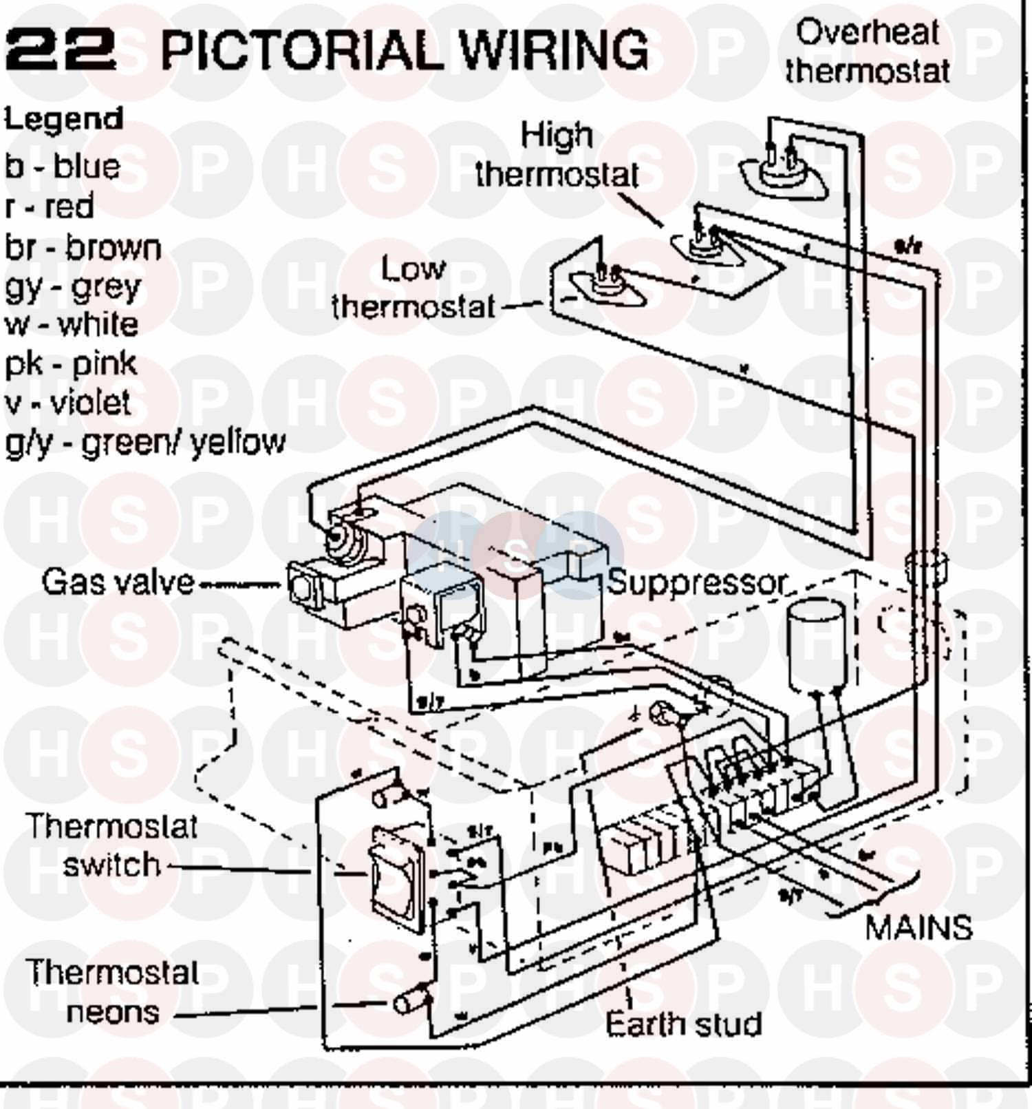 Ideal ELAN 2 CF 40 Appliance Diagram (WIRING DIAGRAM 4