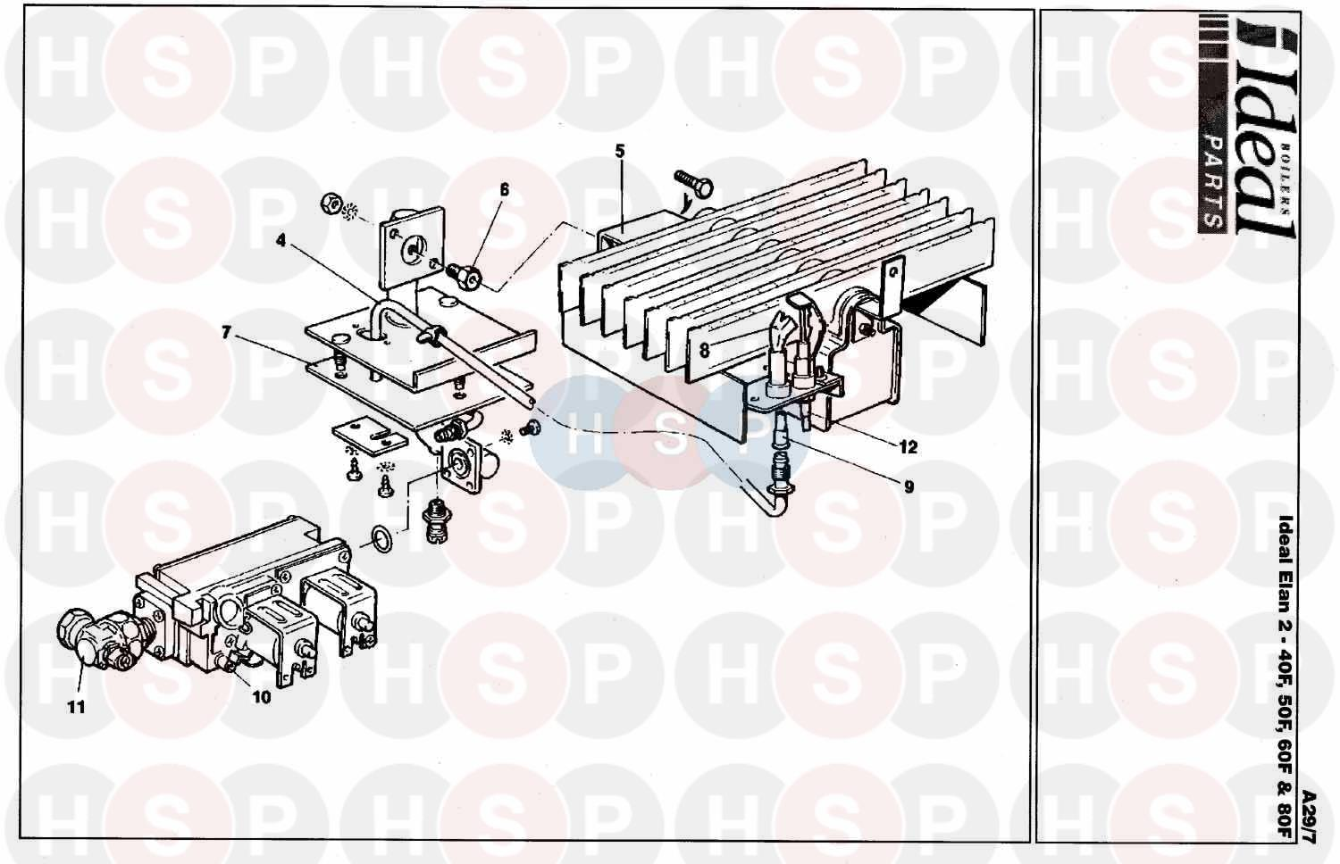 ideal elan 2 40f appliance diagram  burner control ass 1