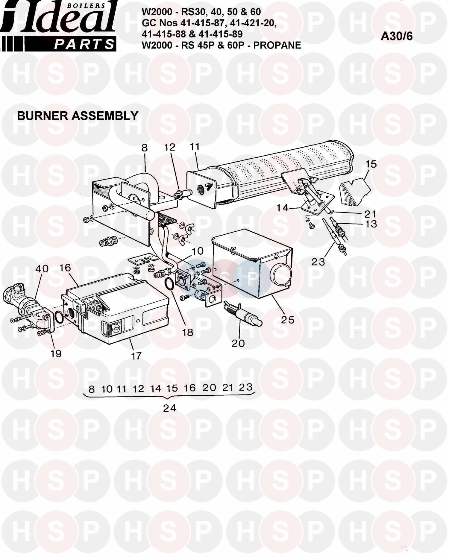 ideal w2000 rs 40  burner control ass 1  diagram