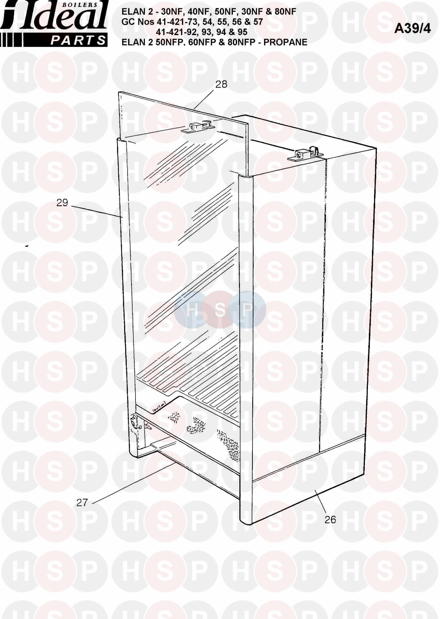 Ideal Elan 2 80nf Boiler Casing Diagram Heating Spare