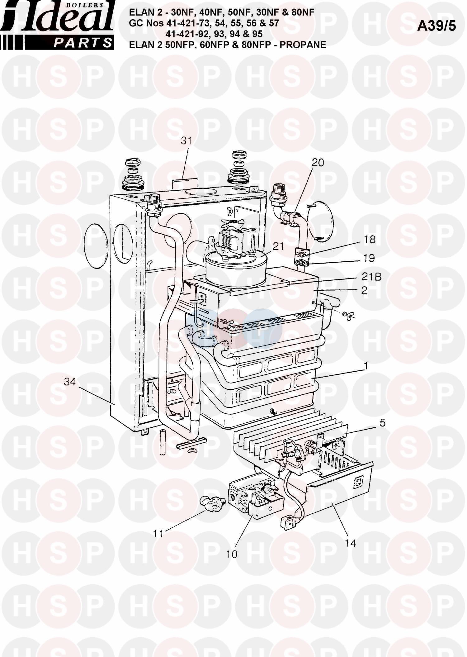 ideal elan 2 50nfp boiler assembly 1 diagram heating. Black Bedroom Furniture Sets. Home Design Ideas