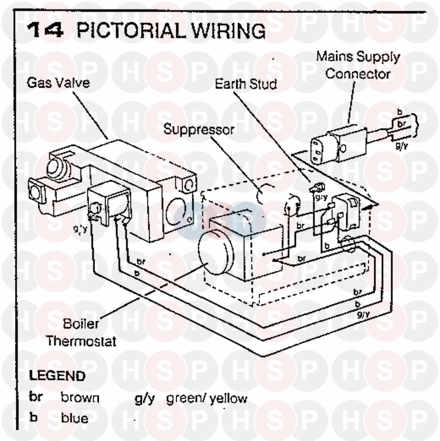 Ideal W2000 CF 45NP Appliance Diagram (Wiring Diagram 1