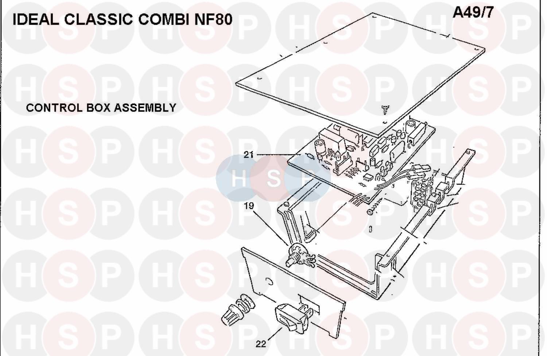 Ideal CLASSIC COMBI NF80 (Control Box Ass)Diagram