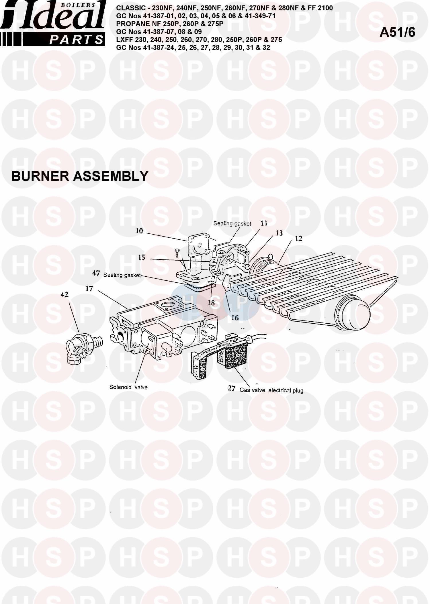 ideal classic 250nf  burner control ass 1  diagram