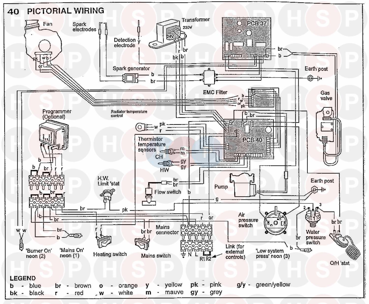 Ideal Response 100 Wiring Diagram 1 Heating Spare Parts Pictorial Click The To Open It On A New Page