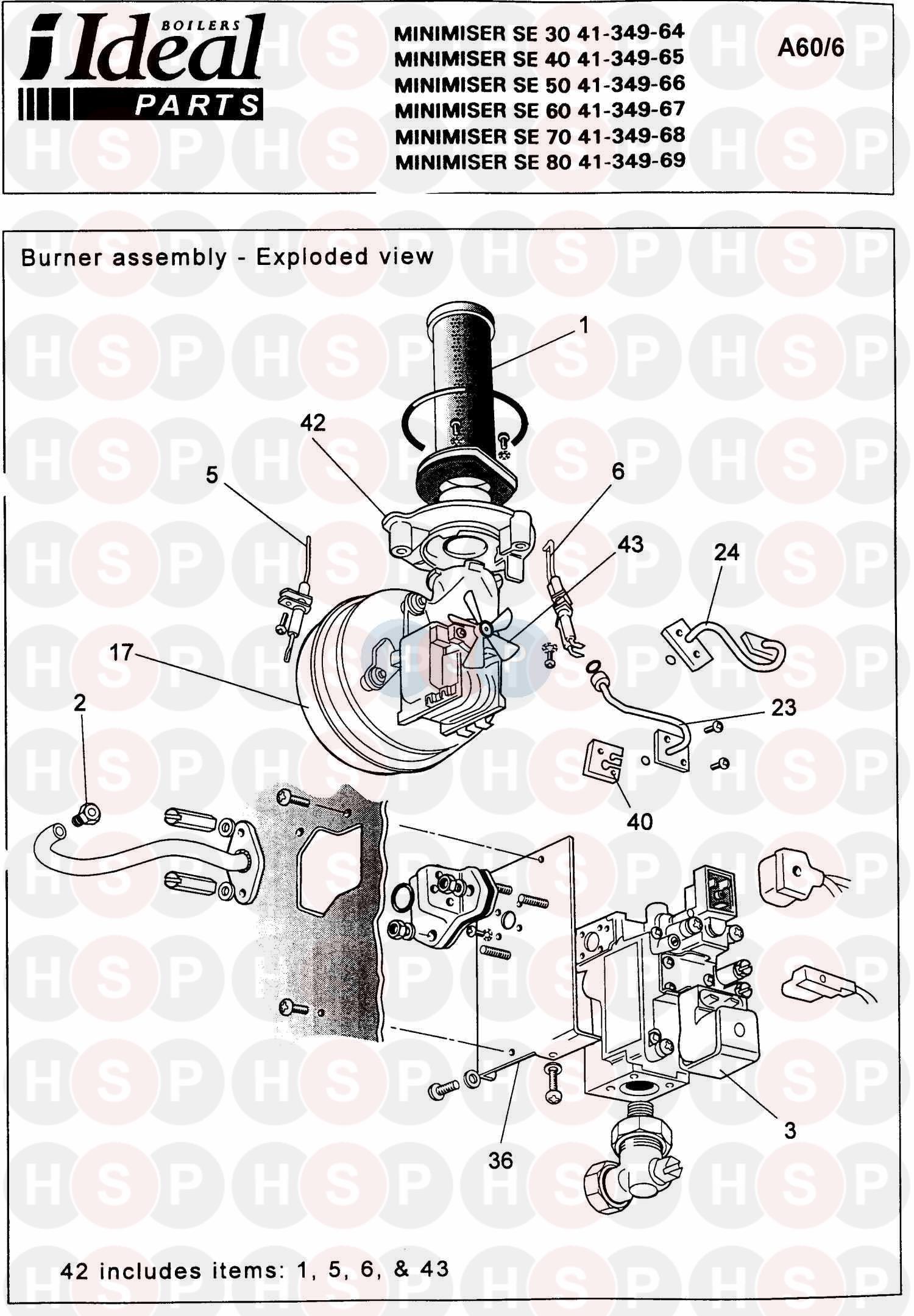 Ideal MINIMISER SE 60 Appliance Diagram (Burner Control