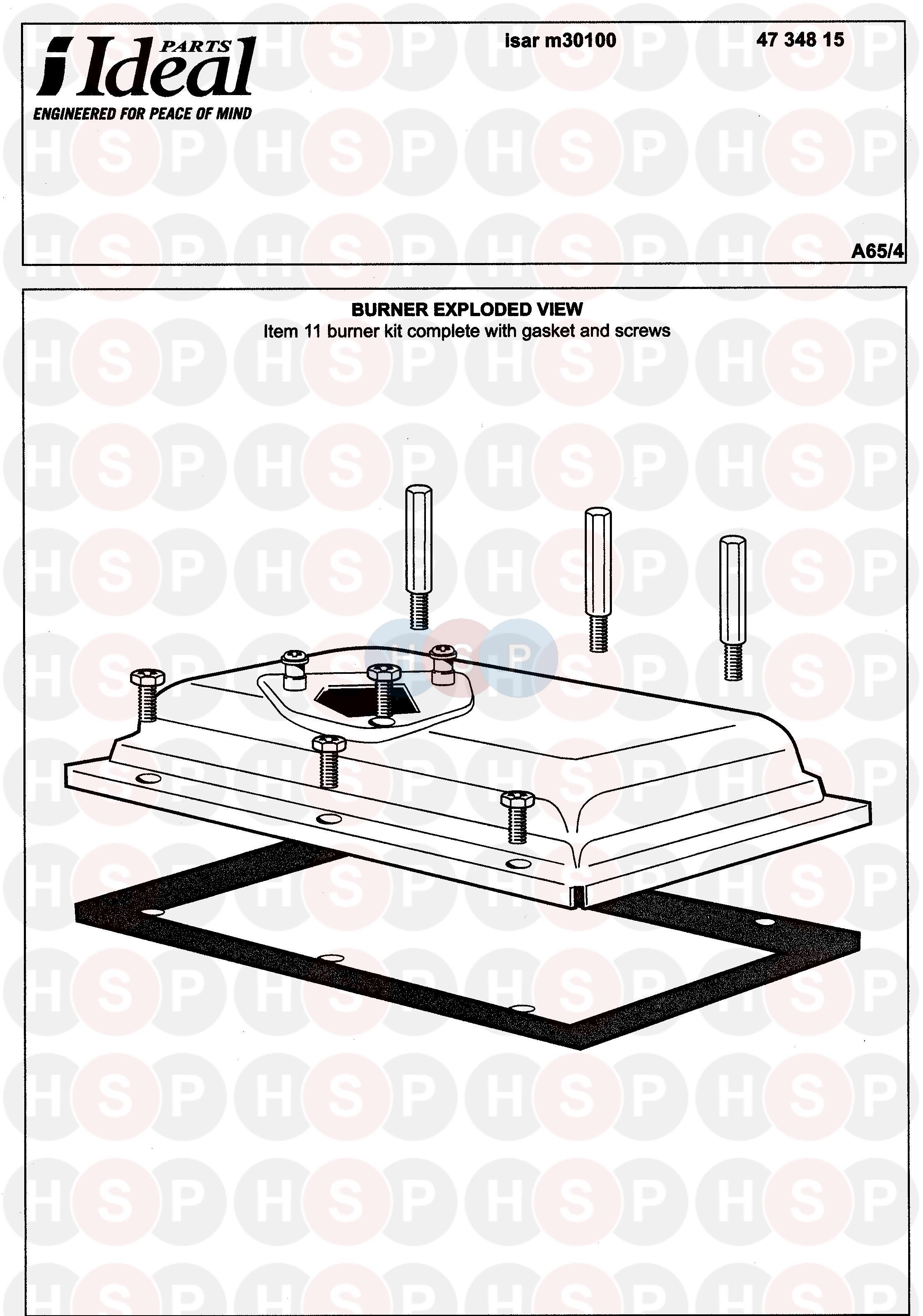 Ideal ISAR M30100 Appliance    Diagram     BURNER    Heating