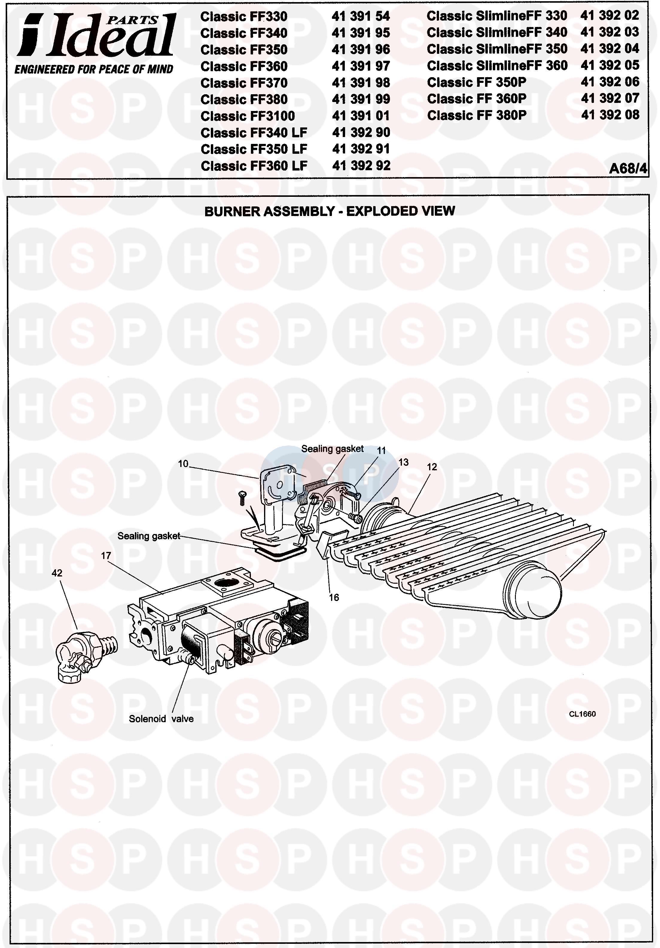 ideal classic ff350  burner  diagram